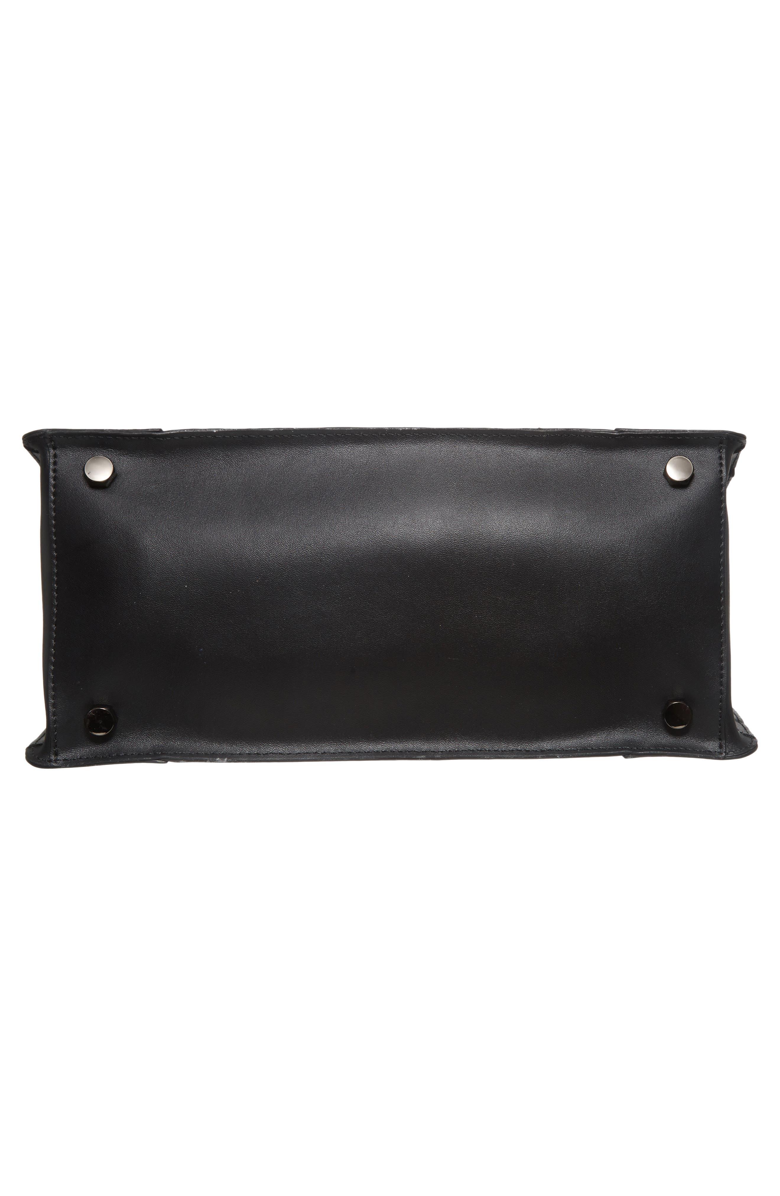 Regan Stripe Leather & Suede Top Handle Satchel,                             Alternate thumbnail 6, color,                             415