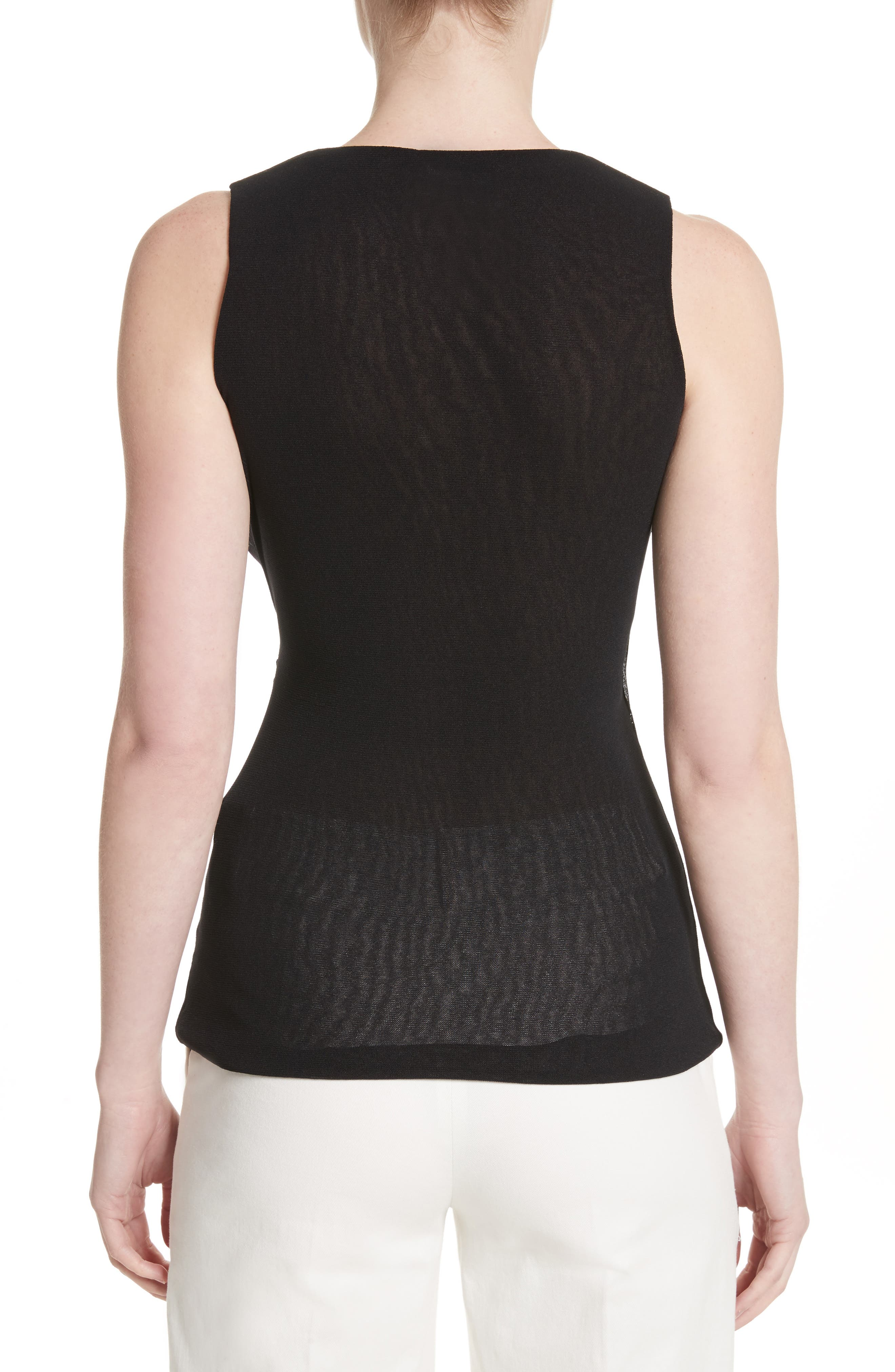 Ruched Tulle Tank,                             Alternate thumbnail 2, color,                             001