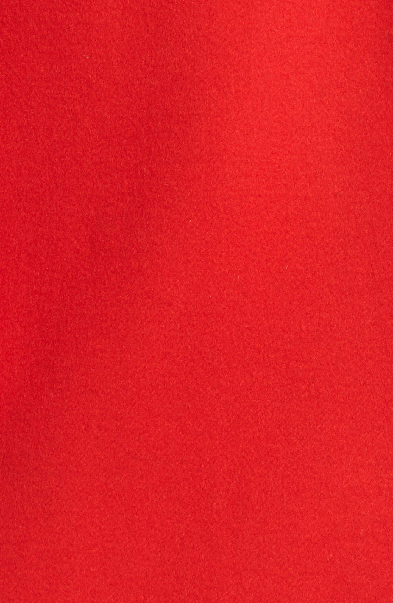 DIANE VON FURSTENBERG,                             Double Face Wool Blend Walker,                             Alternate thumbnail 6, color,                             608