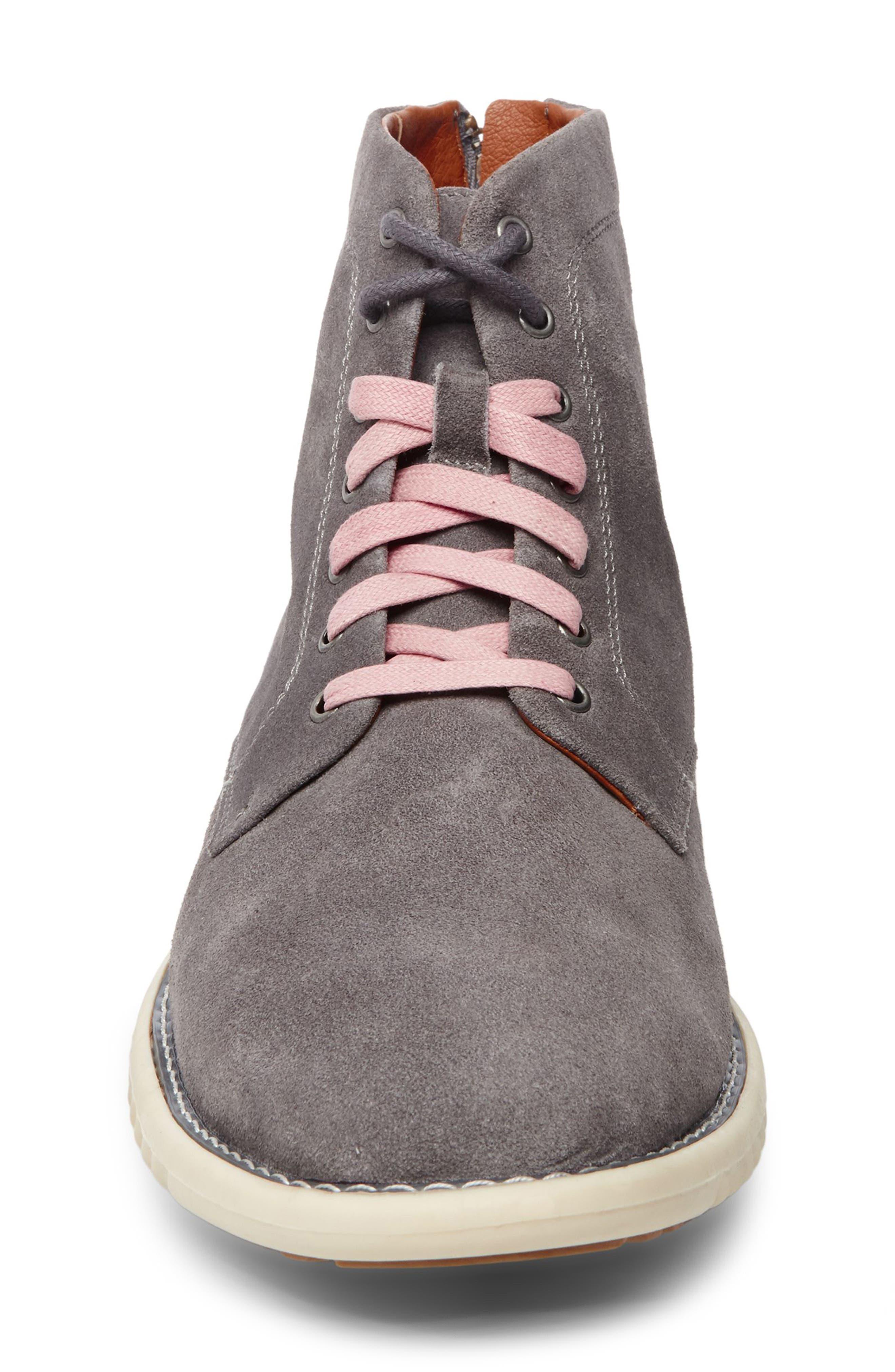 Verner Suede Plain Toe Boot,                             Alternate thumbnail 4, color,                             074