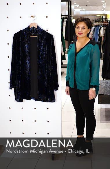 Shawl Collar Velvet Jacket, sales video thumbnail