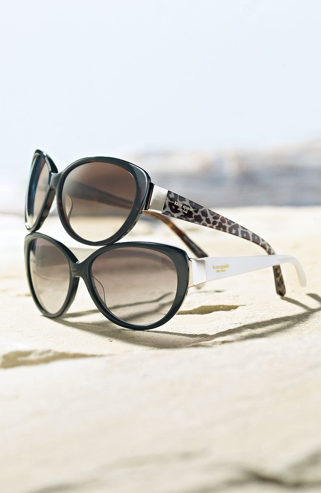 KATE SPADE NEW YORK,                             'soliel' cat's eye sunglasses,                             Alternate thumbnail 2, color,                             001