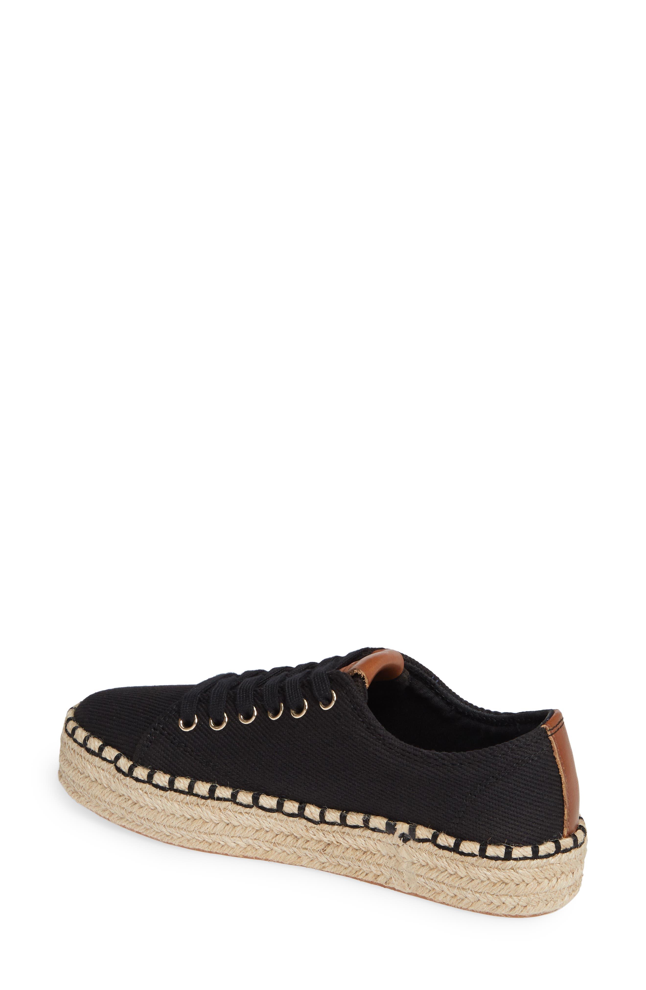 Platform Espadrille Sneaker,                             Alternate thumbnail 2, color,                             BLACK/ KONA TAN FABRIC