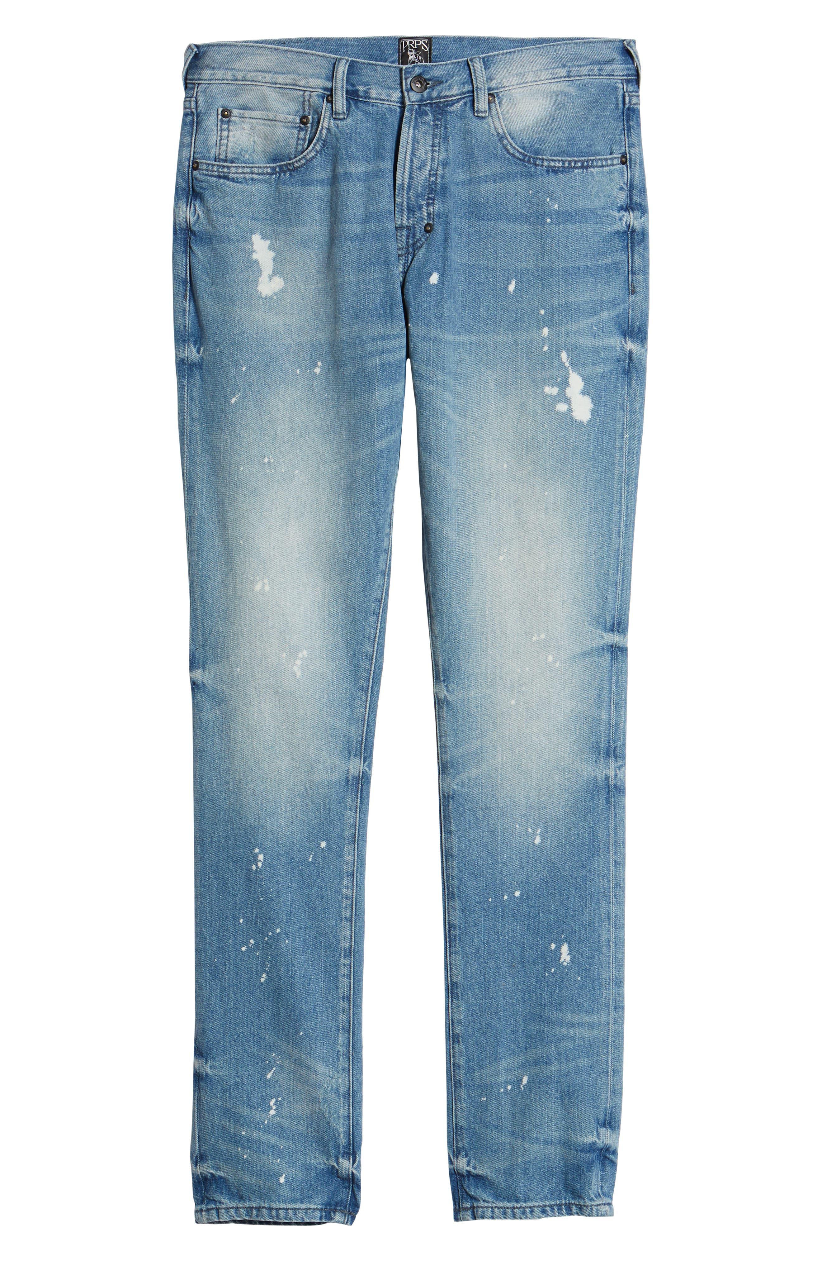 PRPS,                             Le Sabre Slim Fit Jeans,                             Alternate thumbnail 6, color,                             TAWDRY