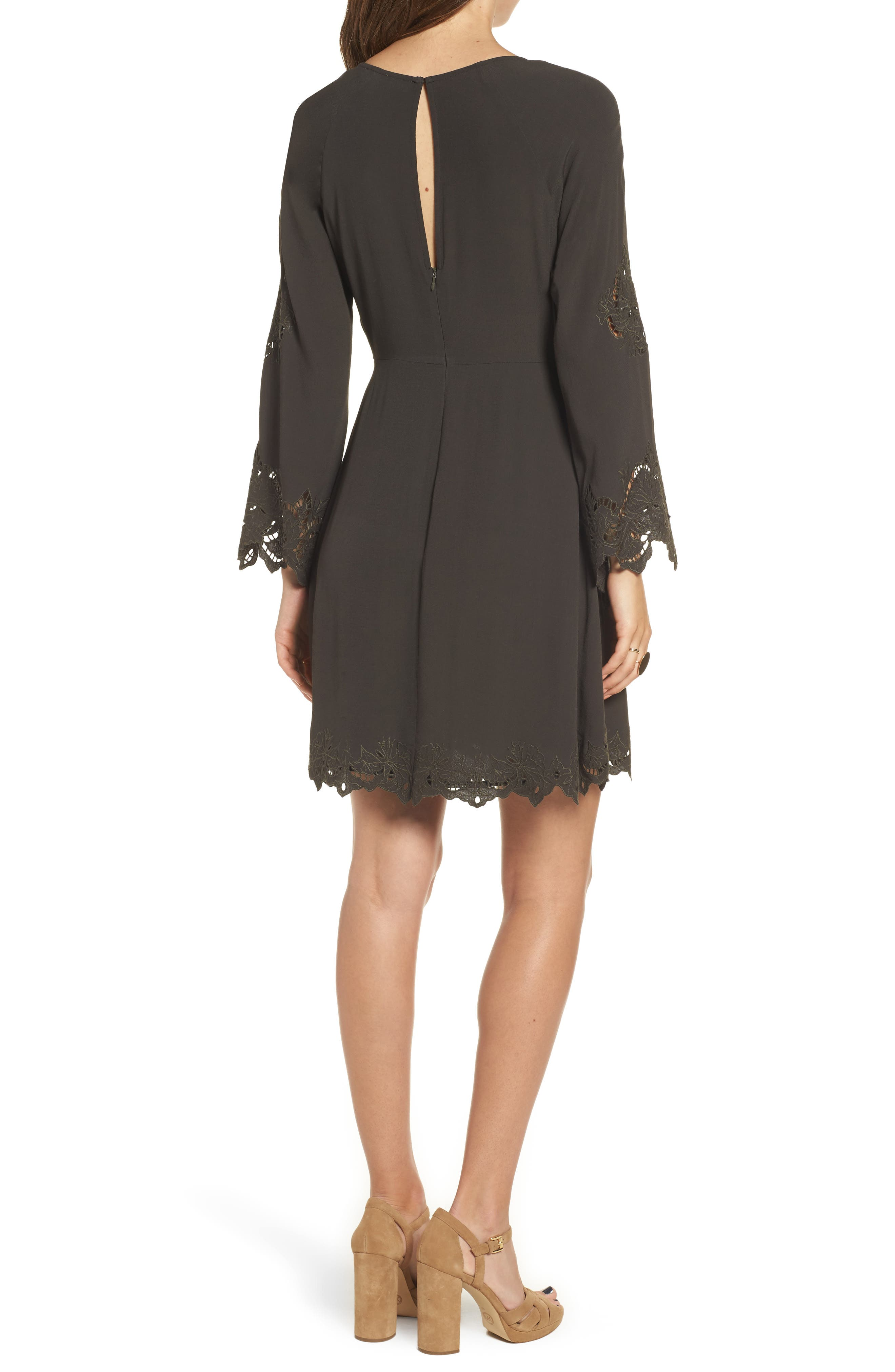 Fern Fit & Flare Dress,                             Alternate thumbnail 2, color,                             021