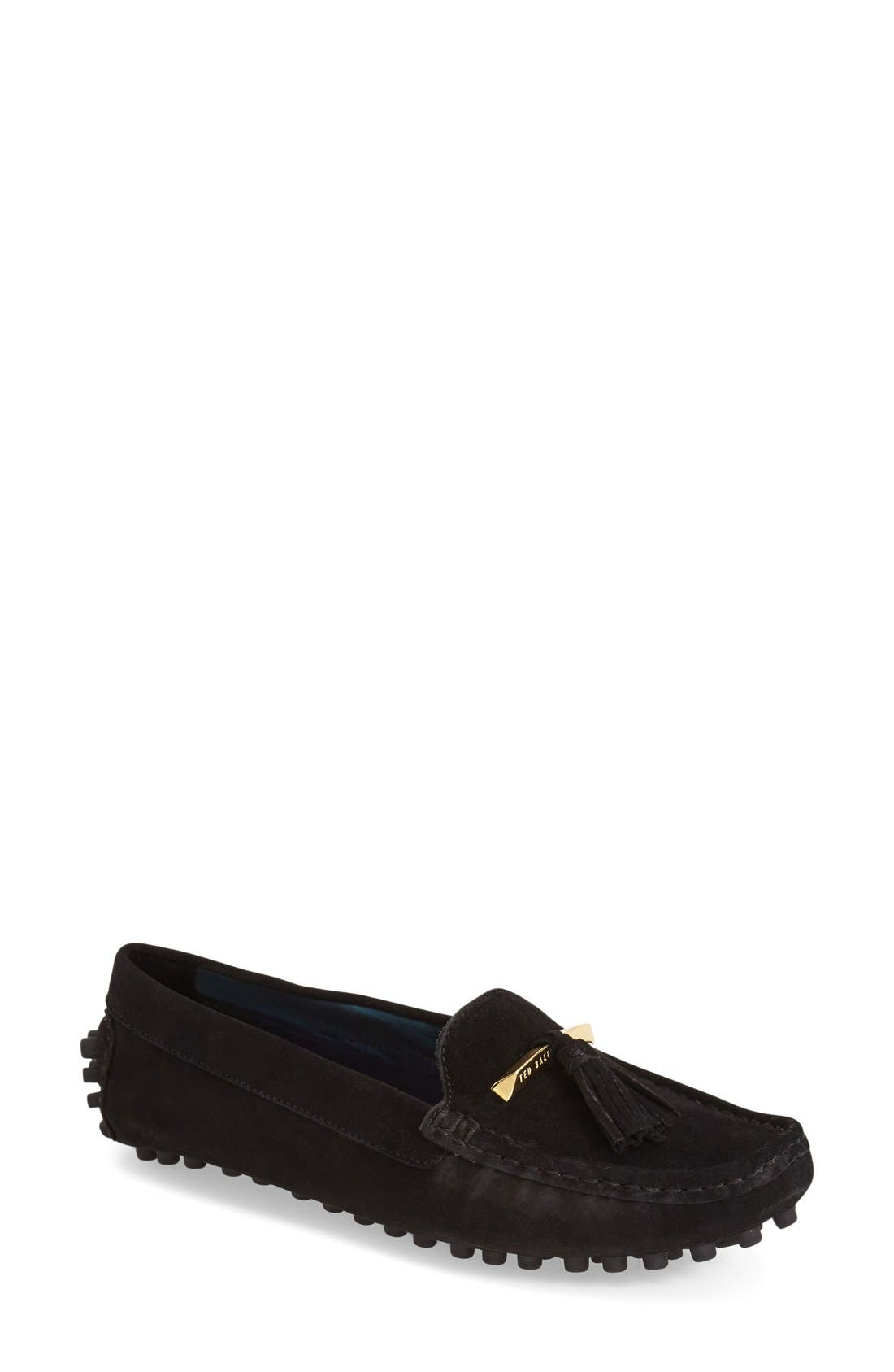 TED BAKER LONDON 'Harlii' Driving Loafer, Main, color, 010