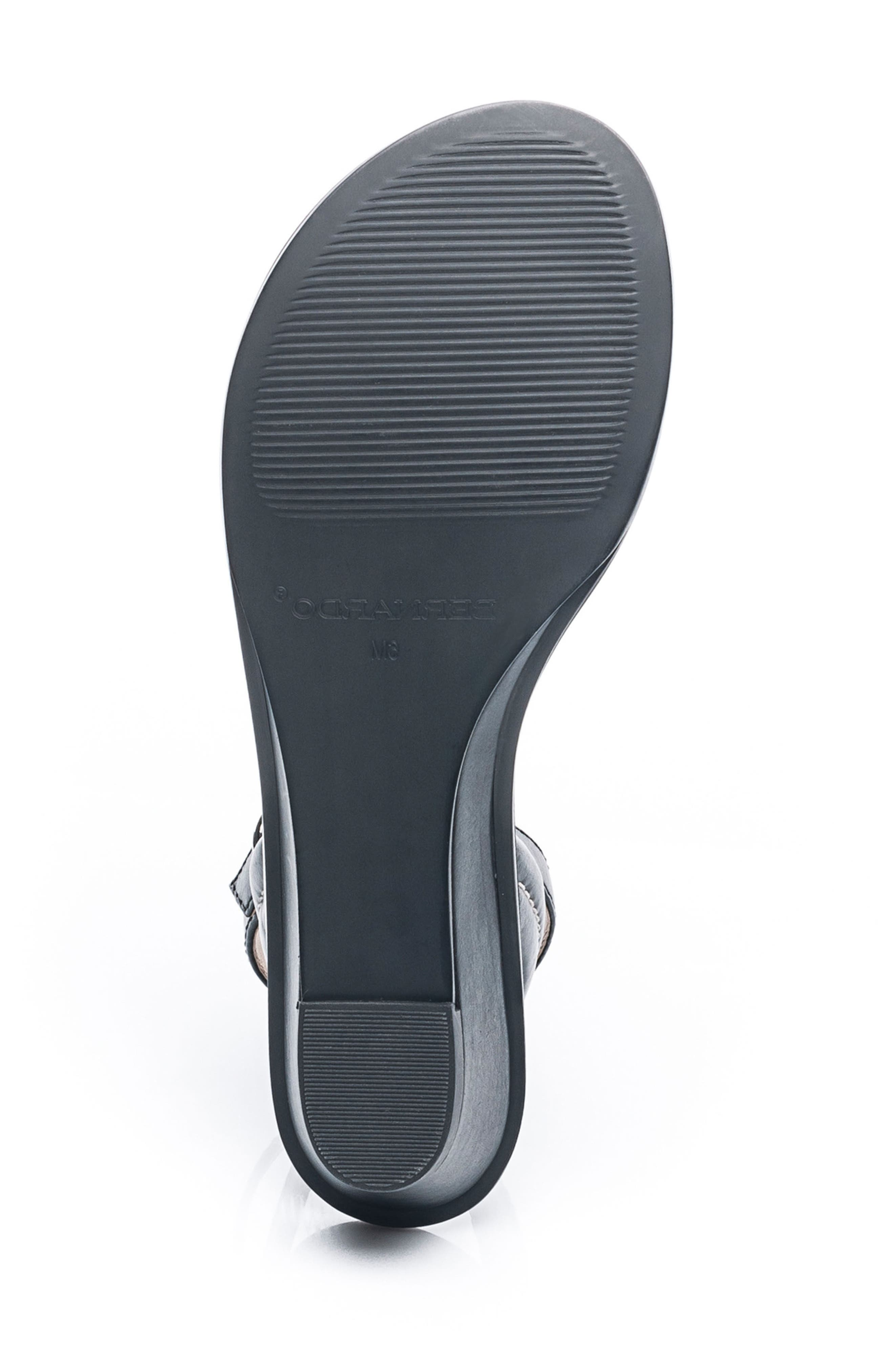 Bernardo Catherine Ankle Strap Sandal,                             Alternate thumbnail 6, color,                             BLACK ANTIQUE