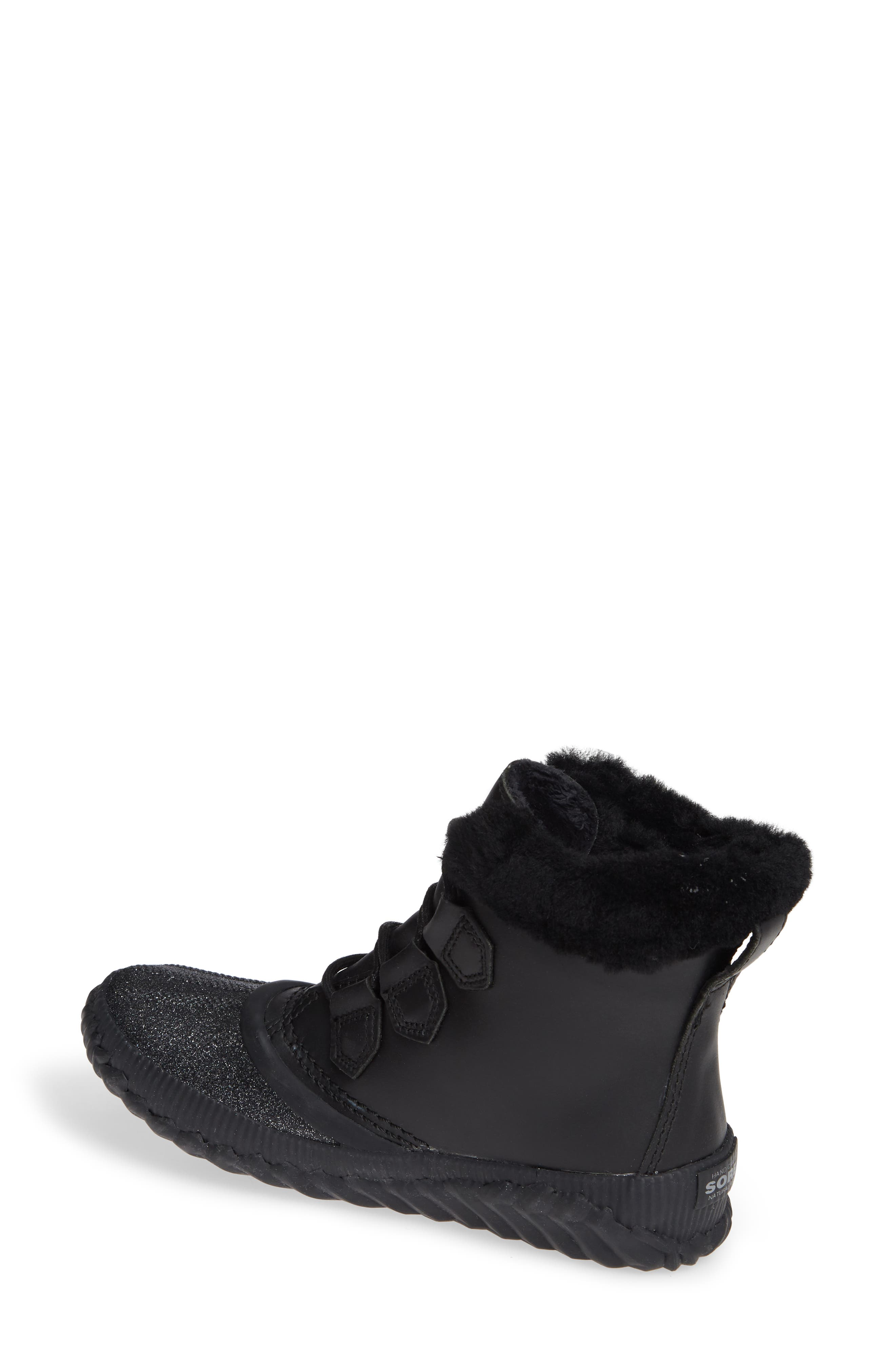 Out N About Plus Lux Waterproof Boot with Genuine Shearling Trim,                             Alternate thumbnail 2, color,                             BLACK