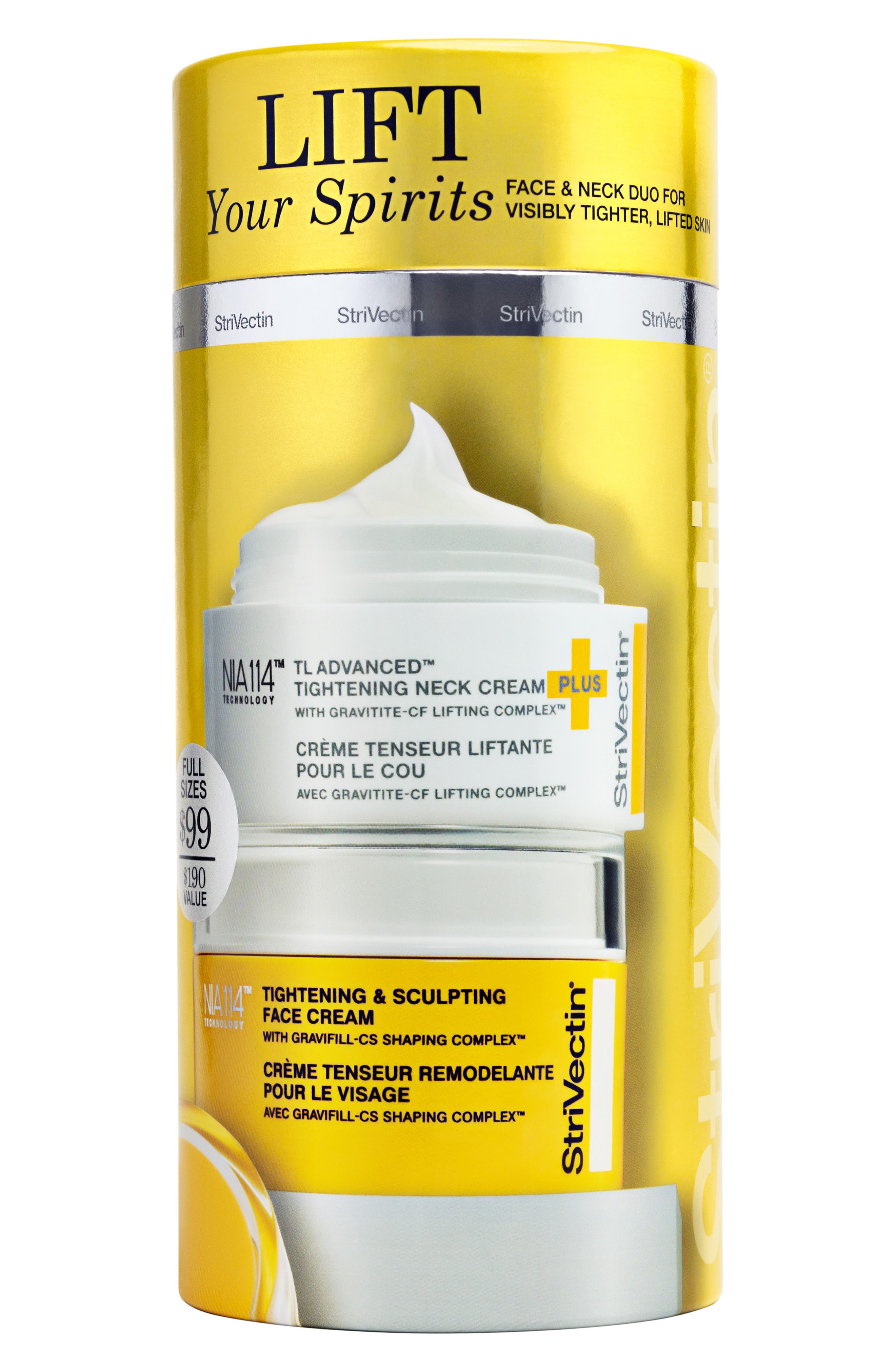 StriVectin Lift Your Spirits Face & Neck Duo,                             Alternate thumbnail 2, color,                             NO COLOR