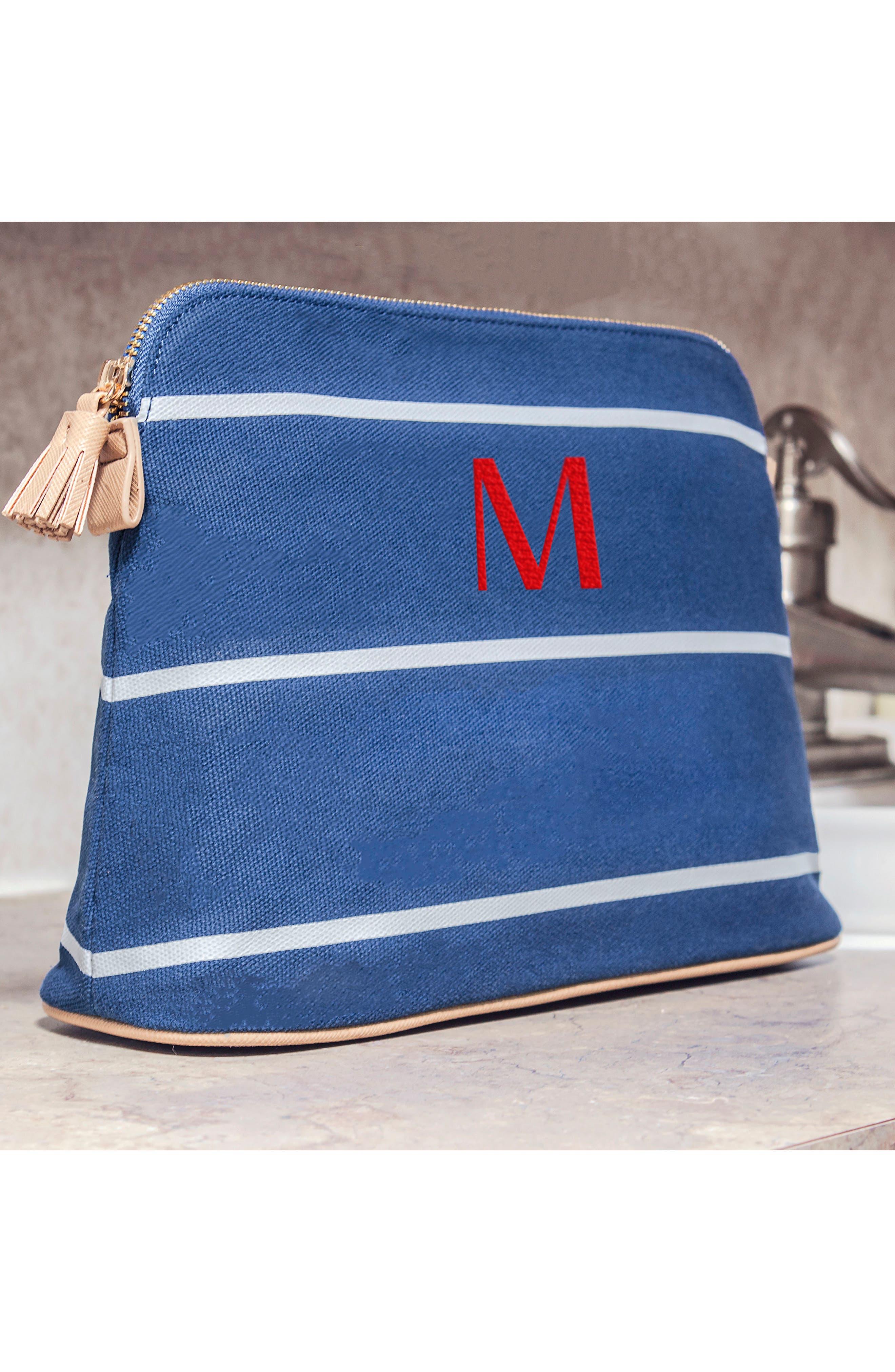 Monogram Cosmetics Bag,                             Alternate thumbnail 2, color,                             BLUE