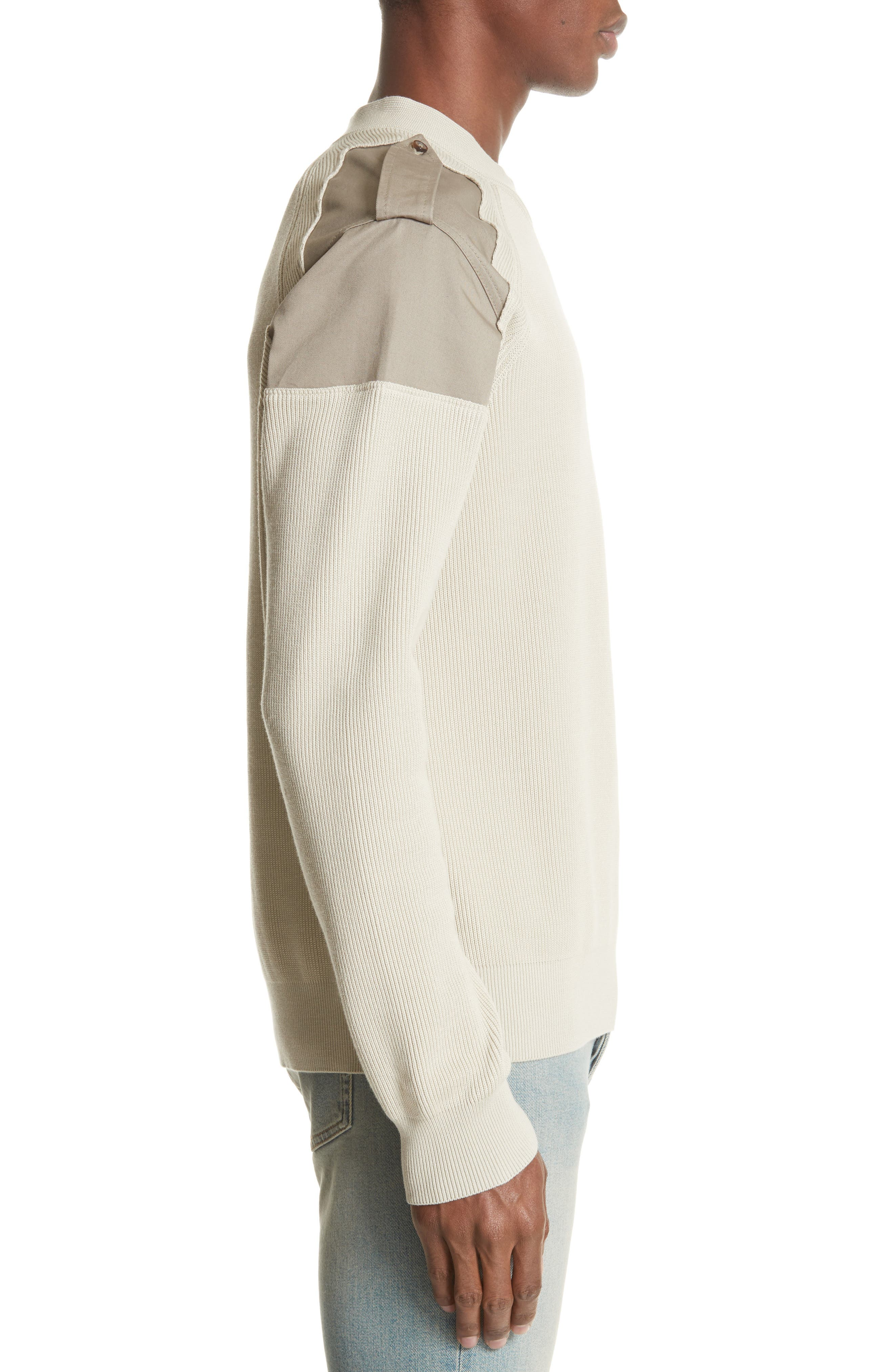 Two-Tone Military Sweater,                             Alternate thumbnail 3, color,                             242