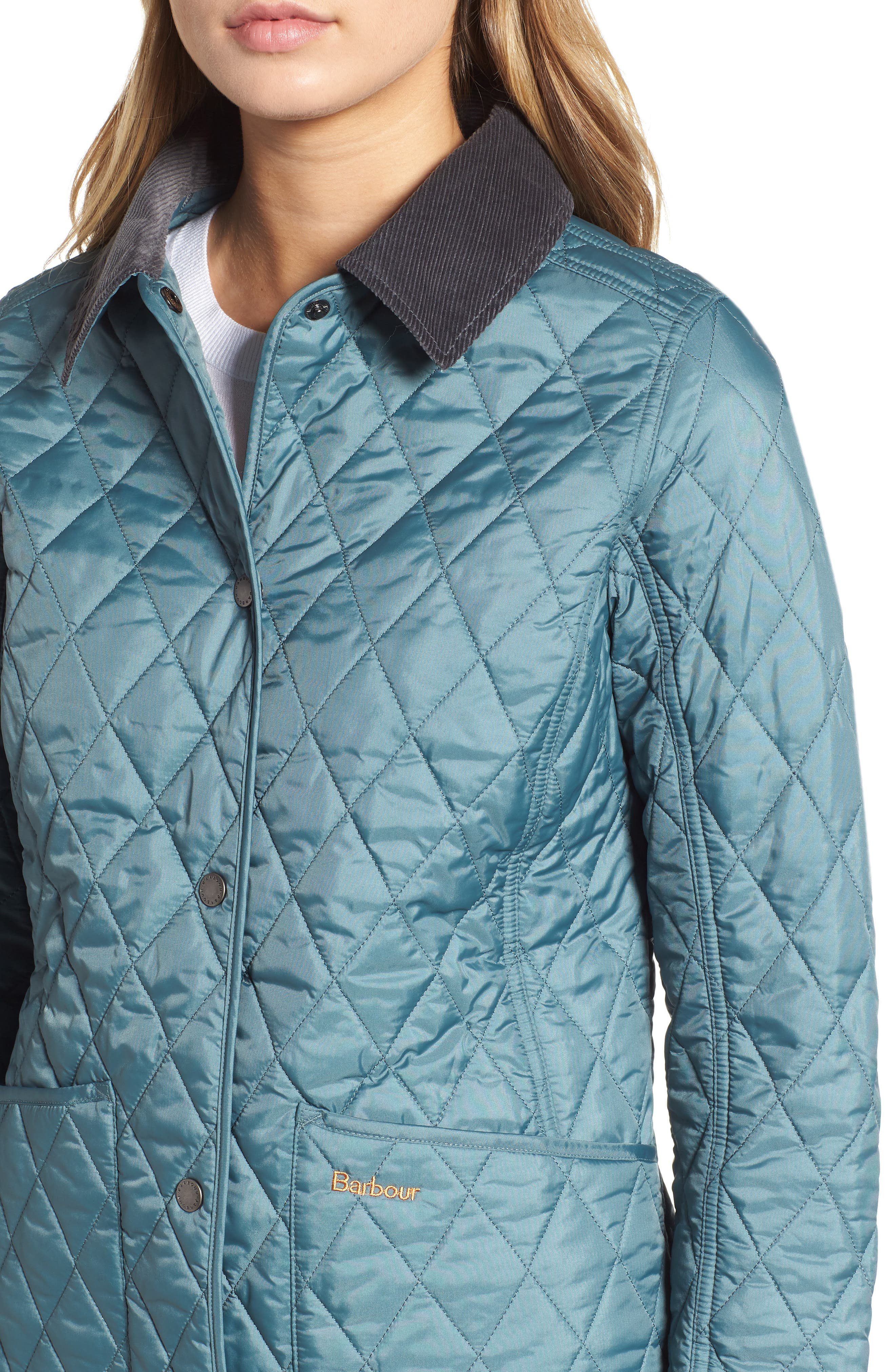 Annandale Quilted Jacket,                             Alternate thumbnail 4, color,                             EUCALYPTUS