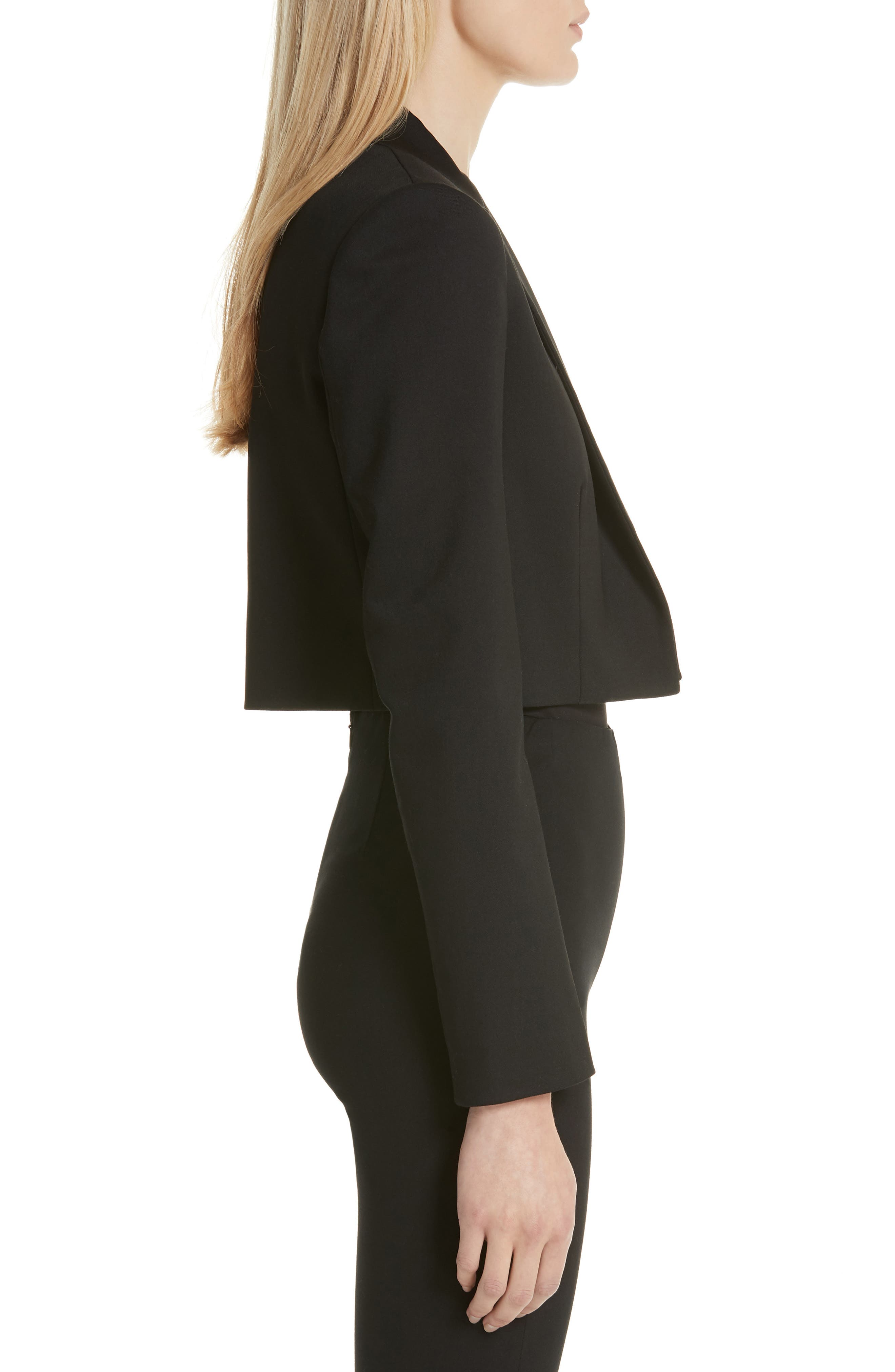 Cube Crop Jacket,                             Alternate thumbnail 3, color,                             001