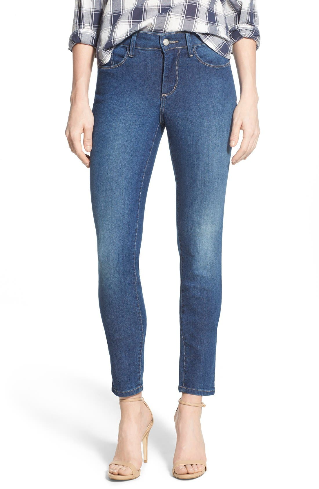 Ami Stretch Skinny Jeans,                             Main thumbnail 1, color,                             423