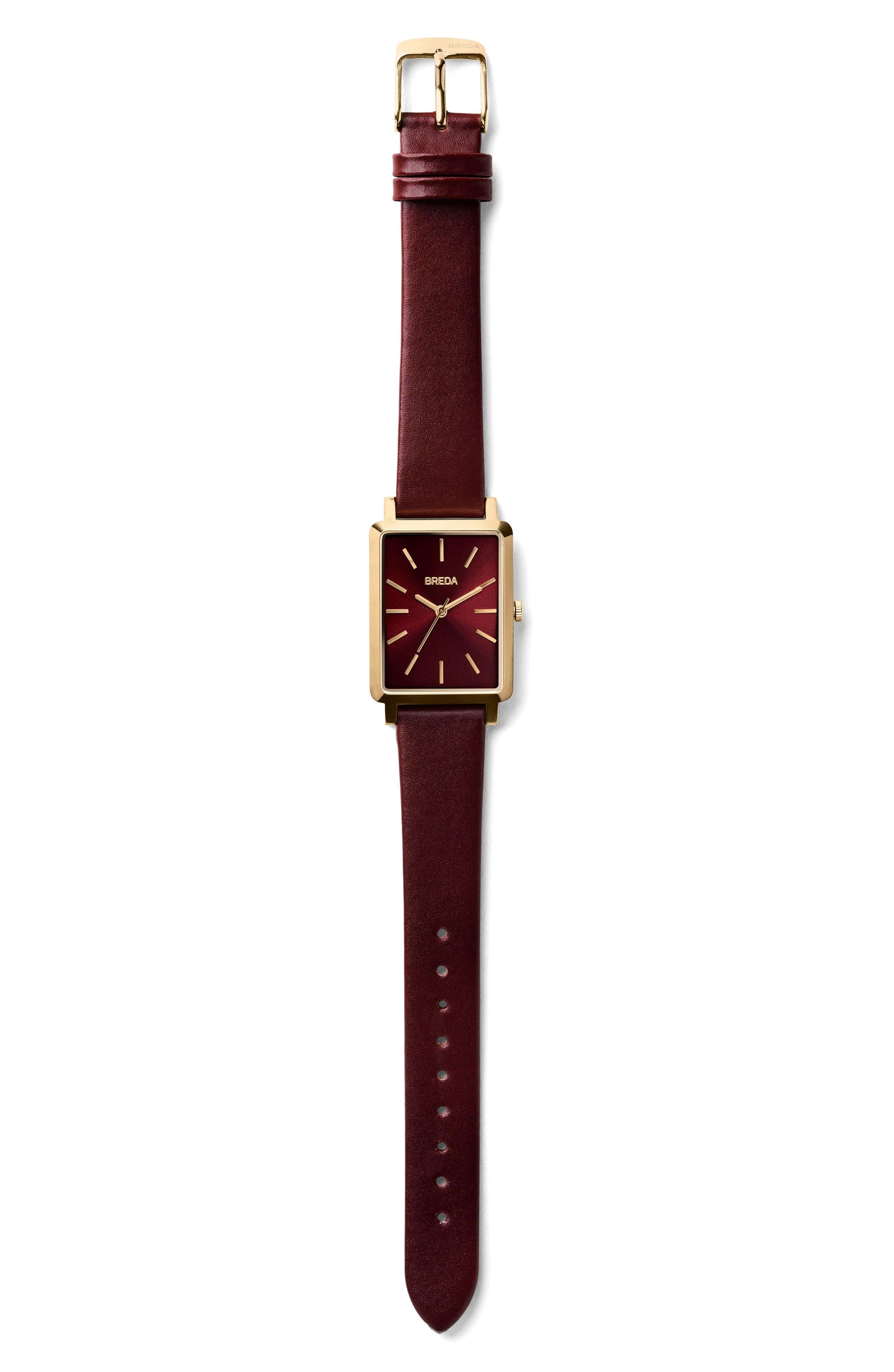 Baer Rectangular Leather Strap Watch, 26mm,                             Alternate thumbnail 15, color,
