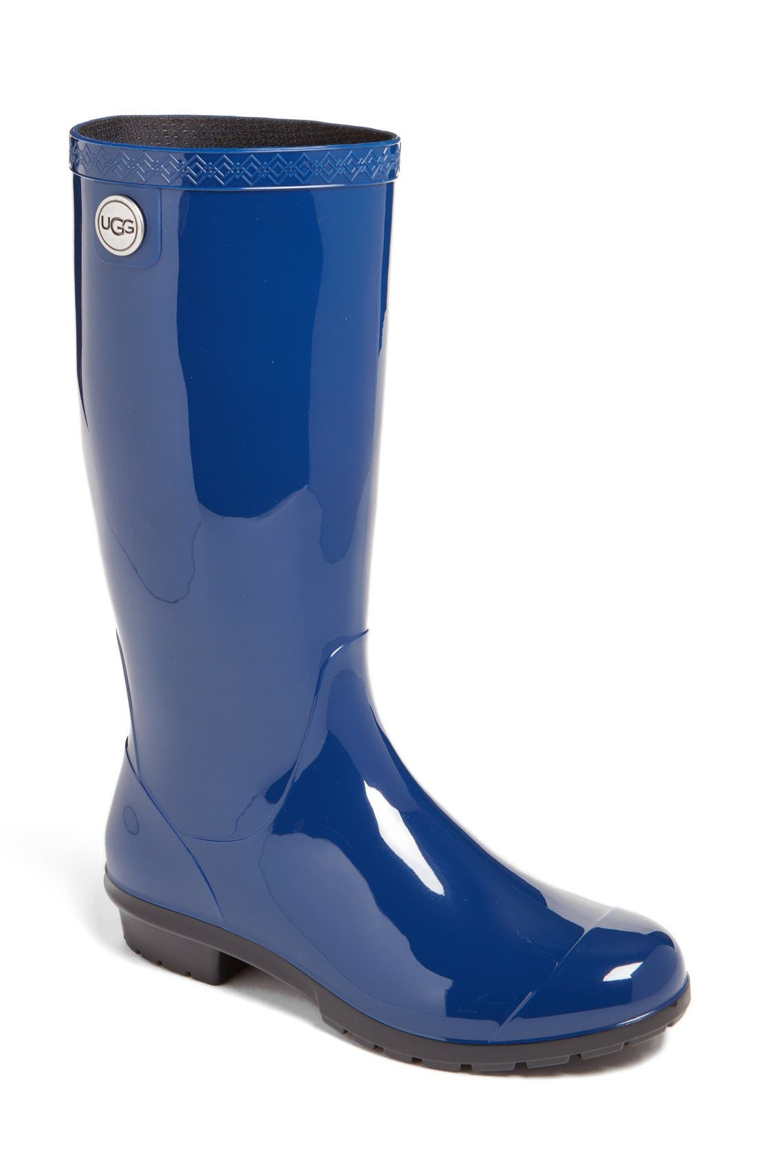 'Shaye' Rain Boot,                             Main thumbnail 1, color,                             BLUE JAY RUBBER