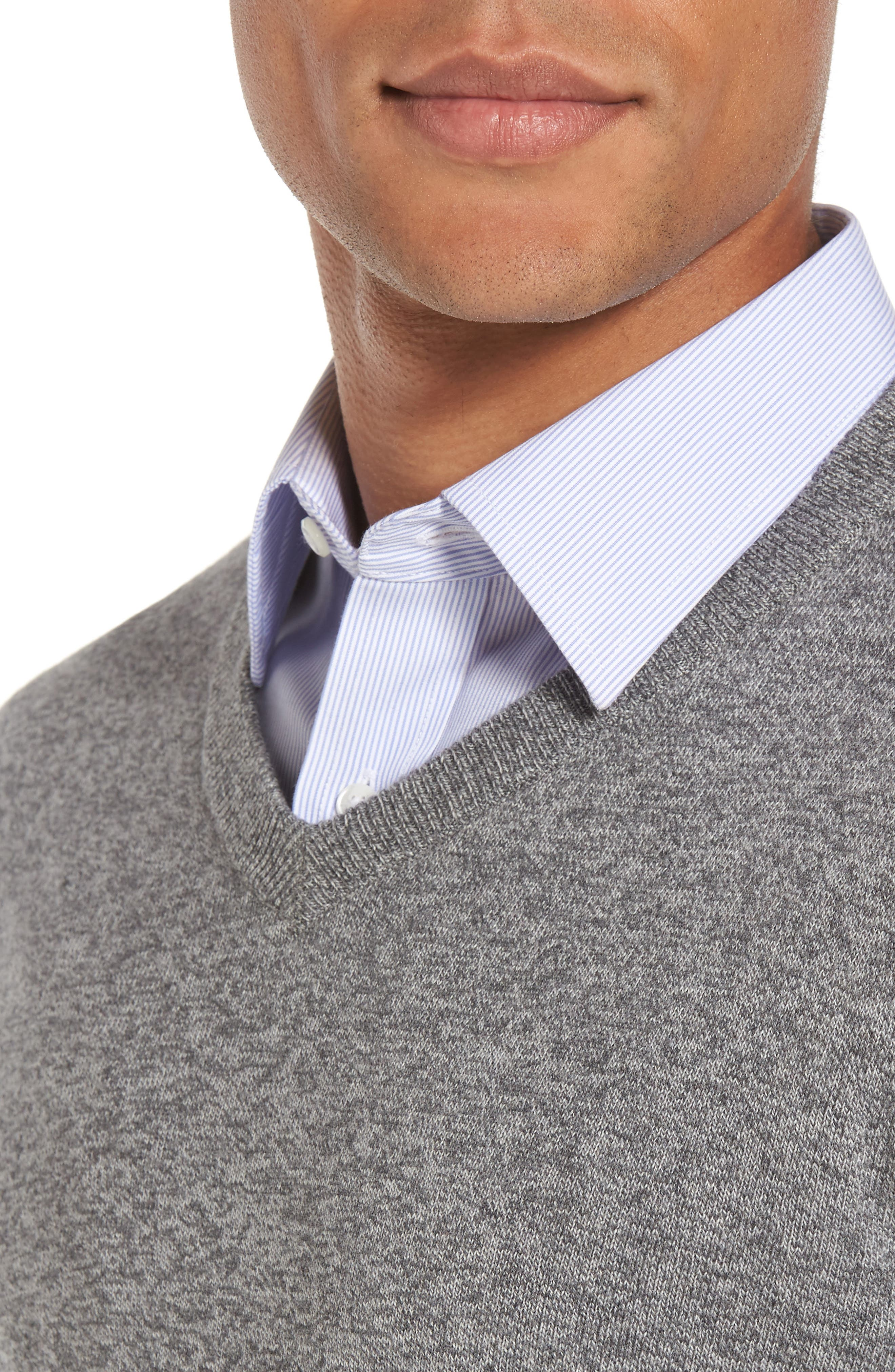 V-Neck Sweater,                             Alternate thumbnail 4, color,                             032