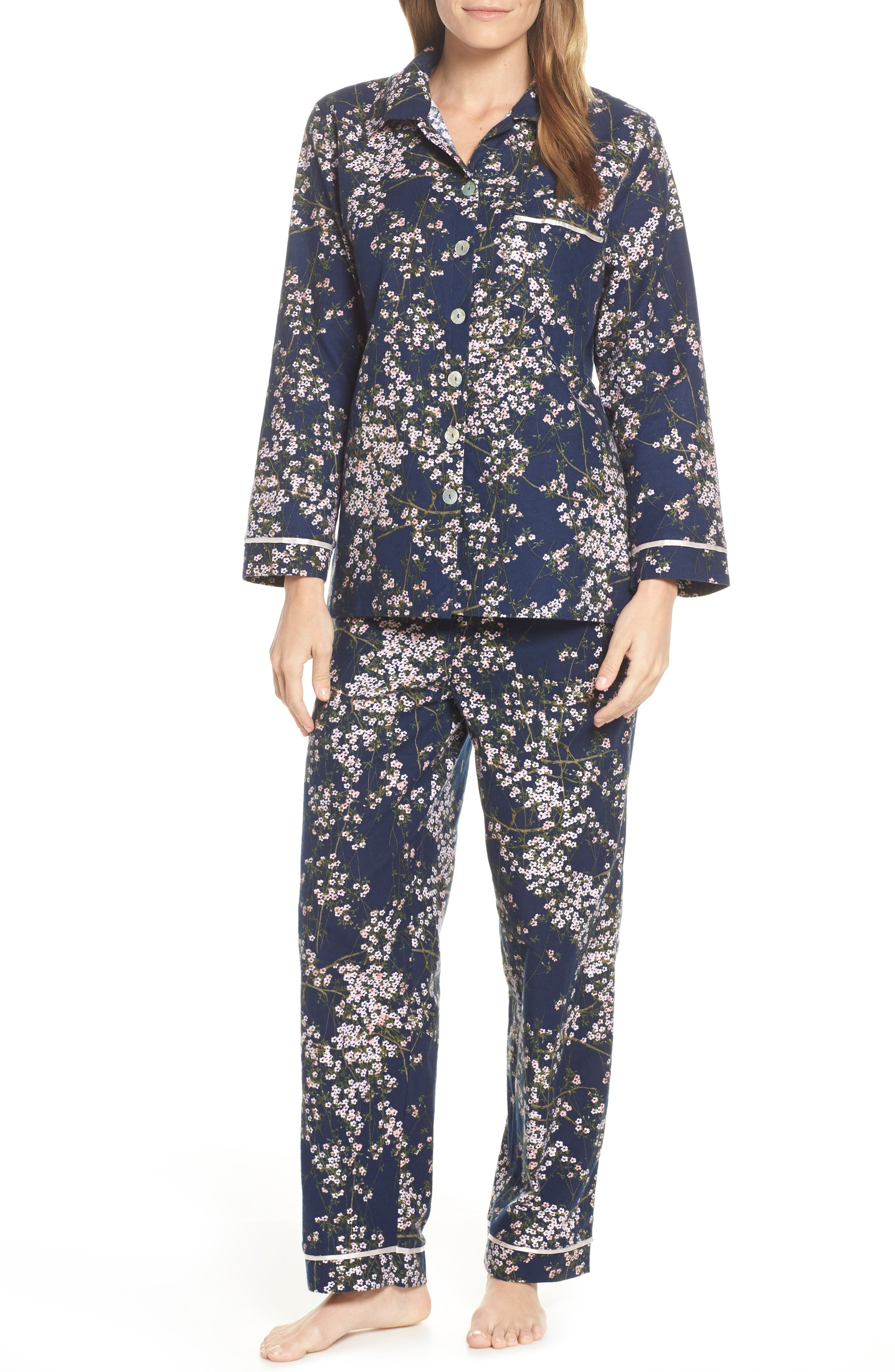 Papinelle Cherry Blossom Pajamas, Blue