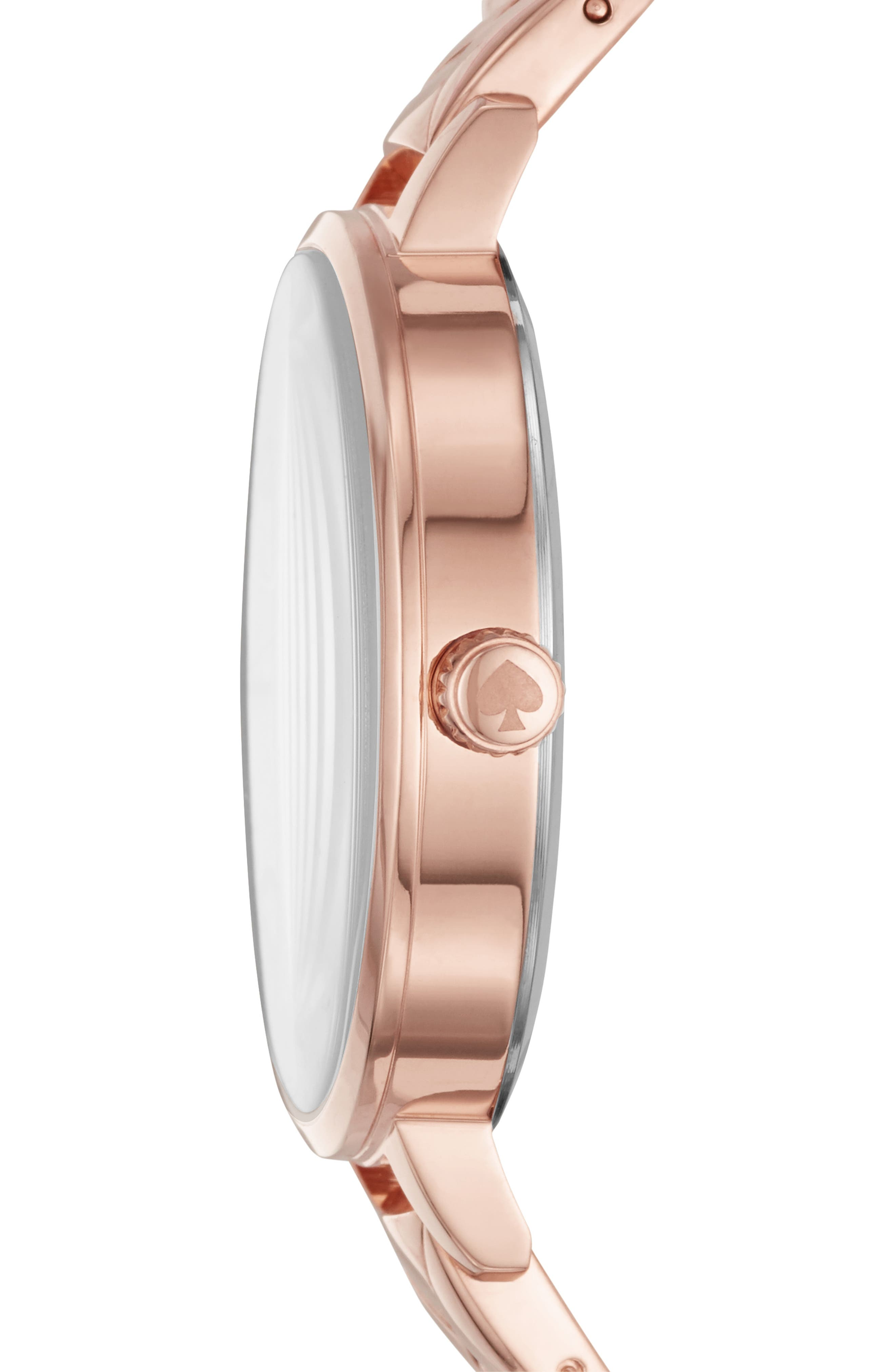 metro bracelet watch, 34mm,                             Alternate thumbnail 2, color,                             ROSE GOLD/ MOP/ ROSE GOLD