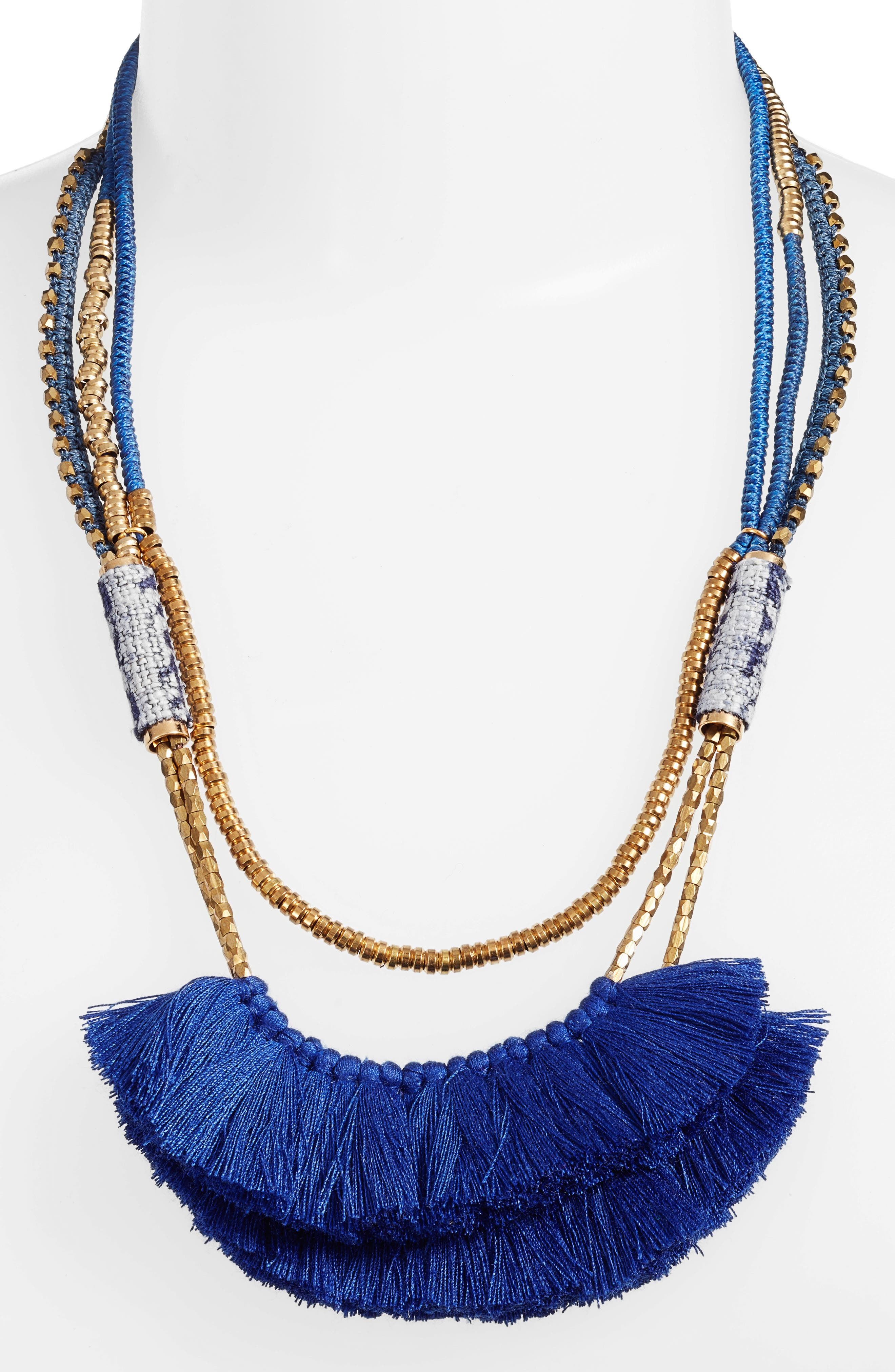 Tassel Statement Necklace,                             Alternate thumbnail 2, color,