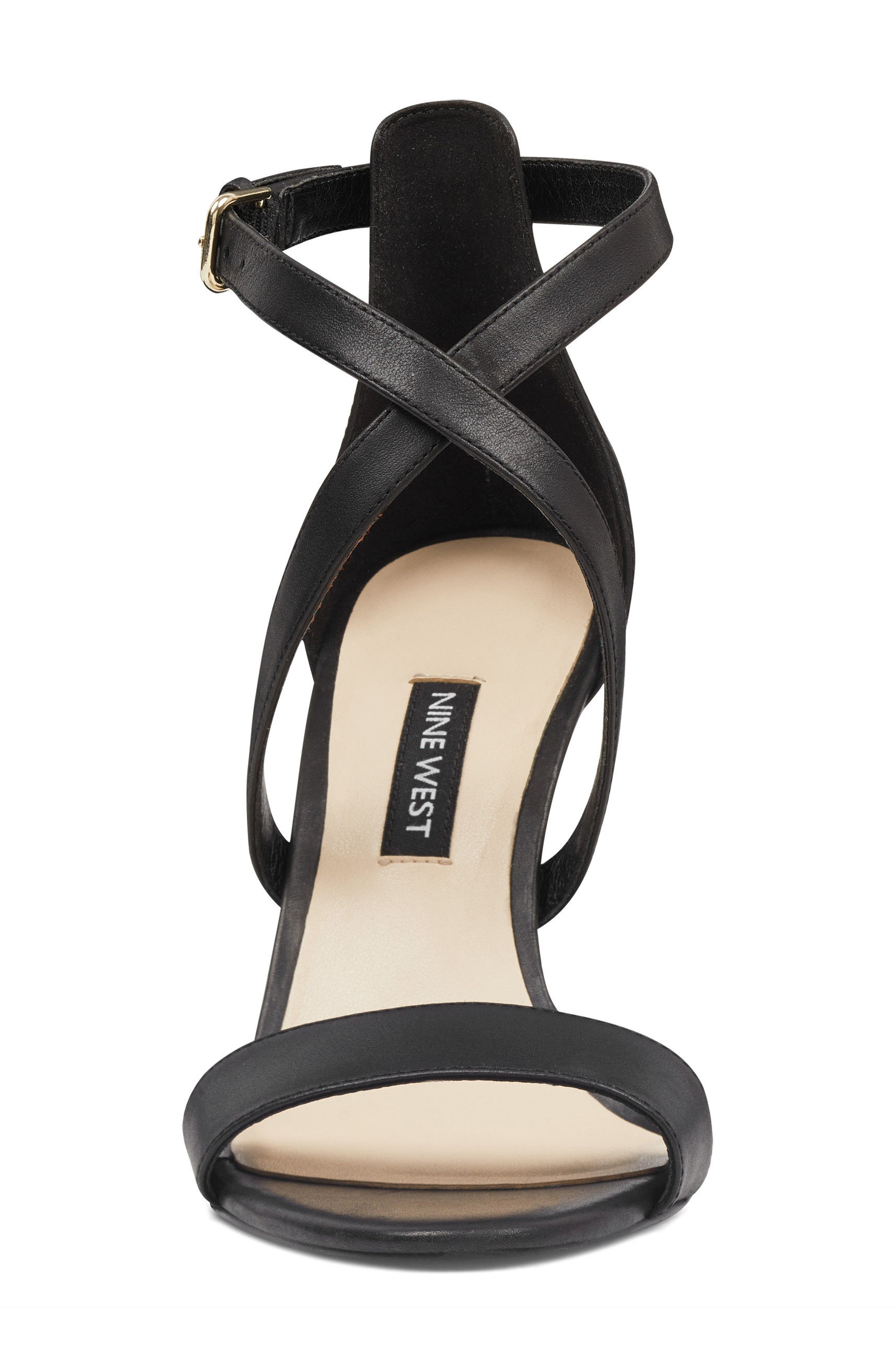Mydebut Strappy Sandal,                             Alternate thumbnail 4, color,                             BLACK LEATHER