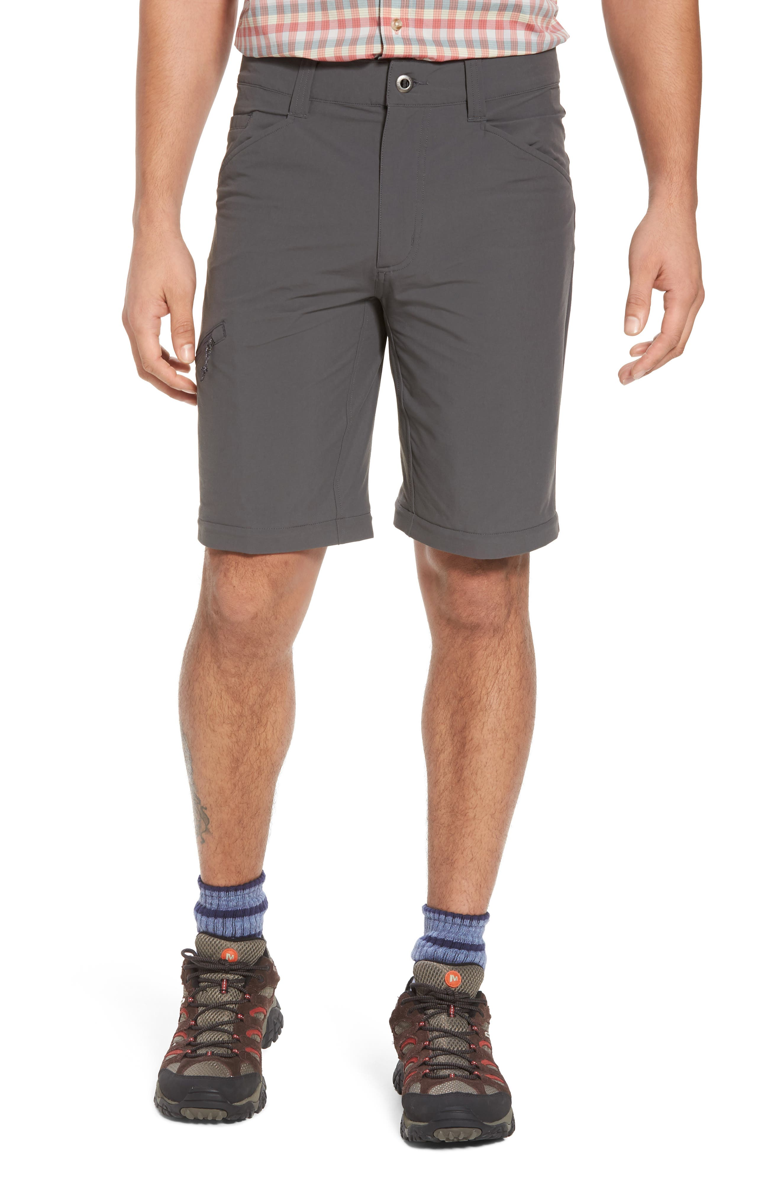M's Quandry Convertible Pants,                             Alternate thumbnail 4, color,                             FORGE GREY