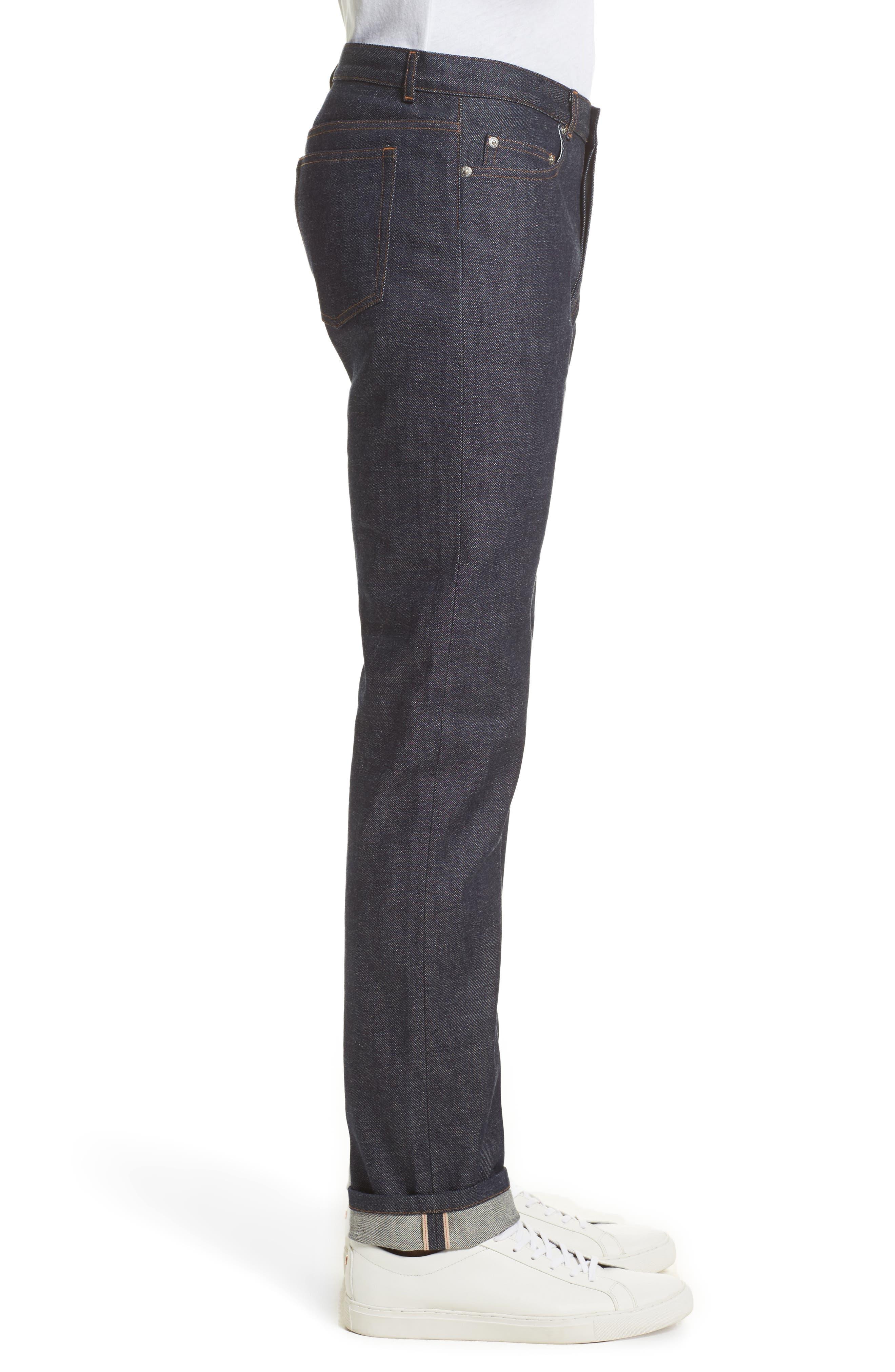 High Waist Standard Selvedge Jeans,                             Alternate thumbnail 3, color,                             468