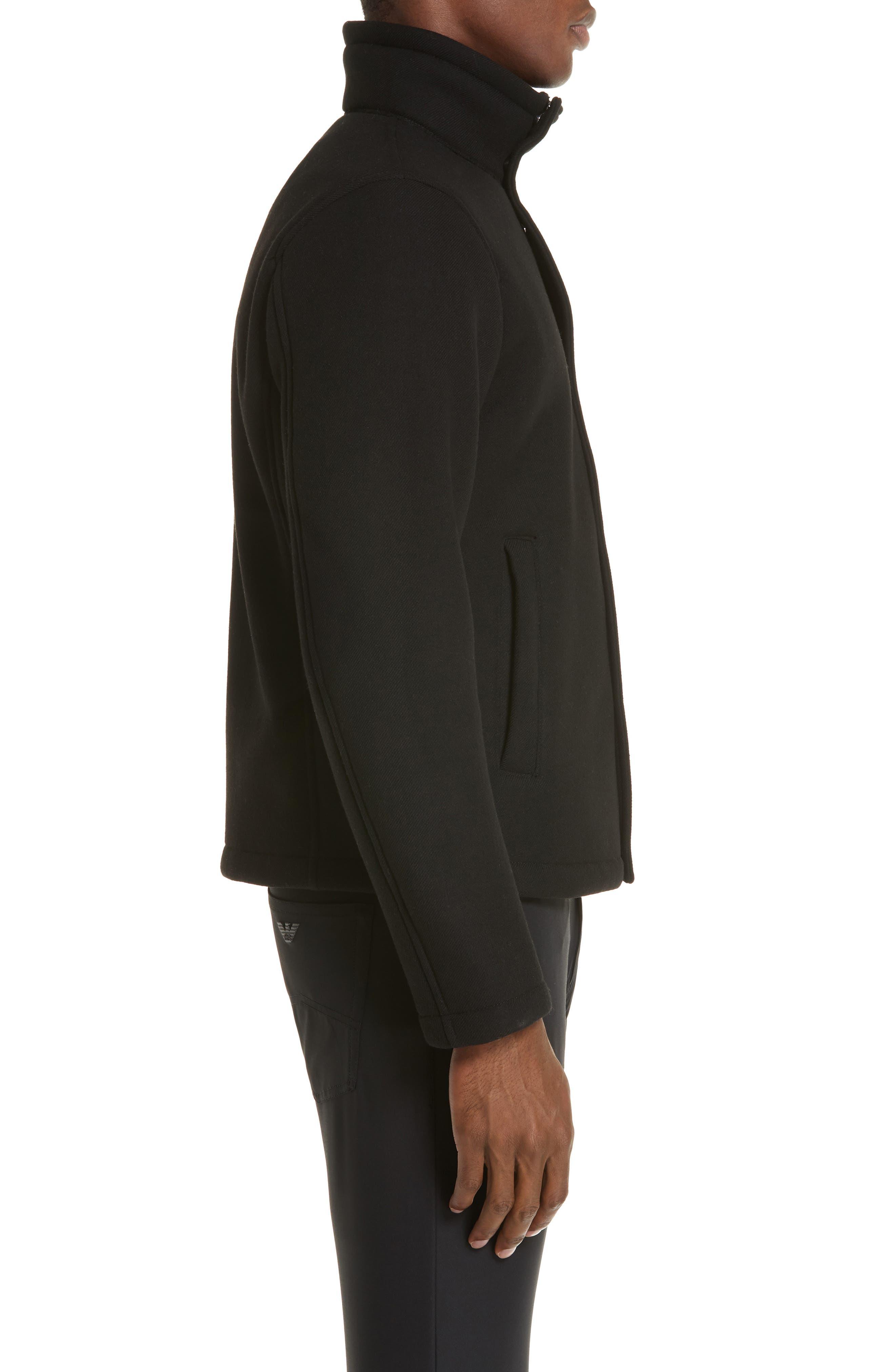 Broadcloth Down Jacket,                             Alternate thumbnail 3, color,                             BLACK
