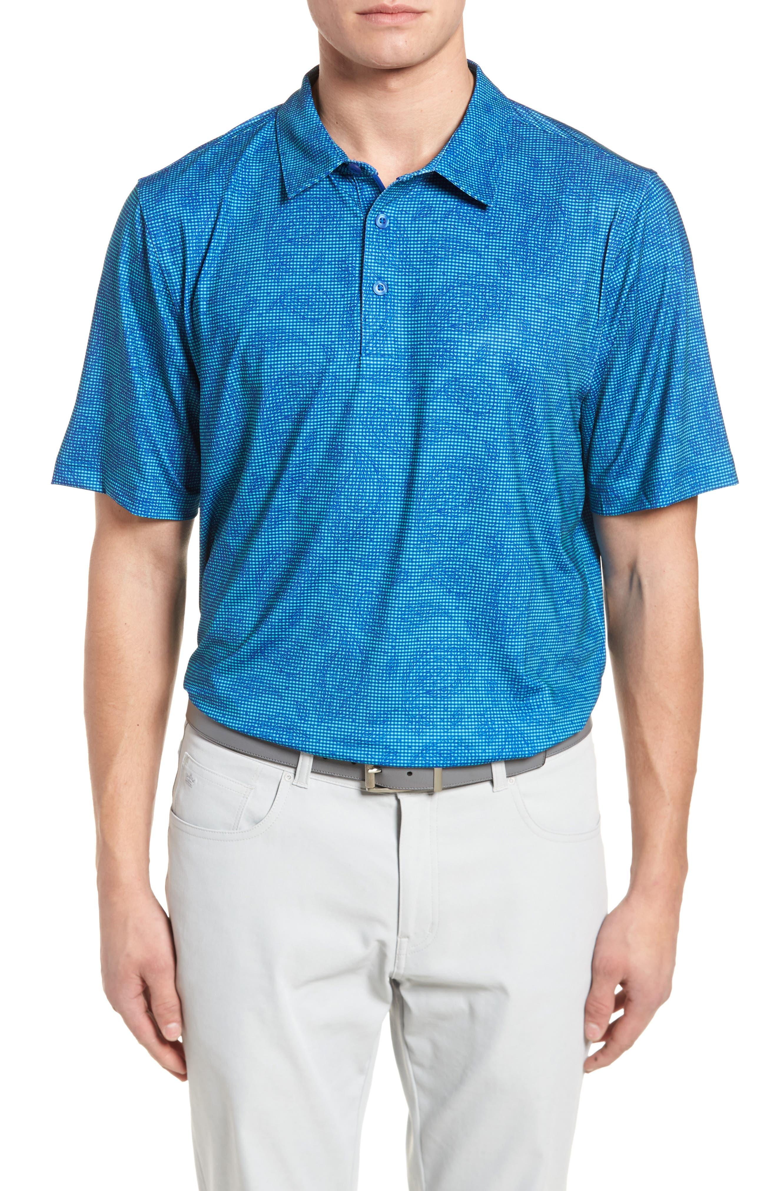 Paisley Check DryTec Polo,                         Main,                         color, 419