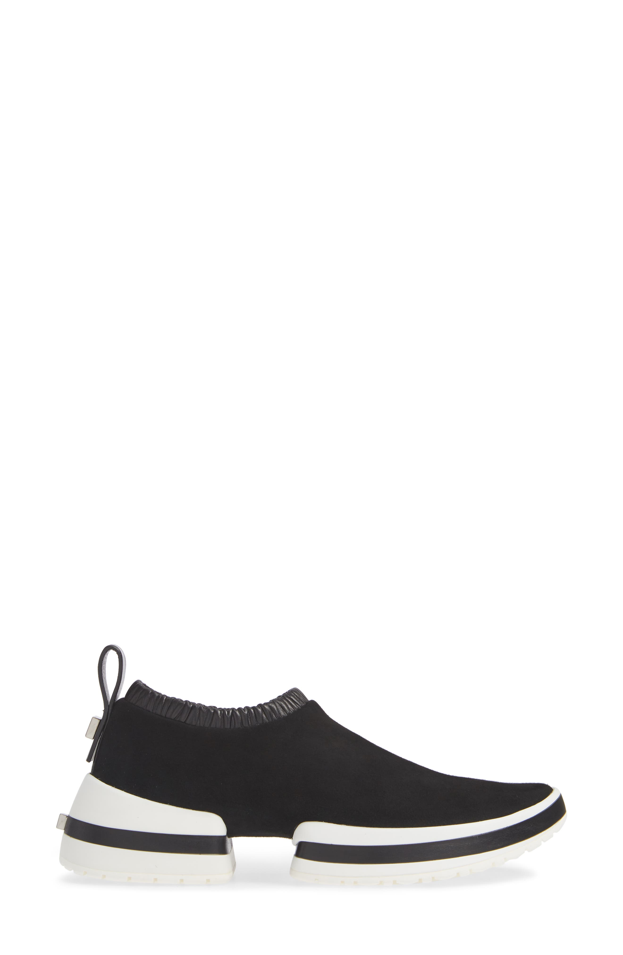 612 Sneaker,                             Alternate thumbnail 3, color,                             BLACK SUEDE
