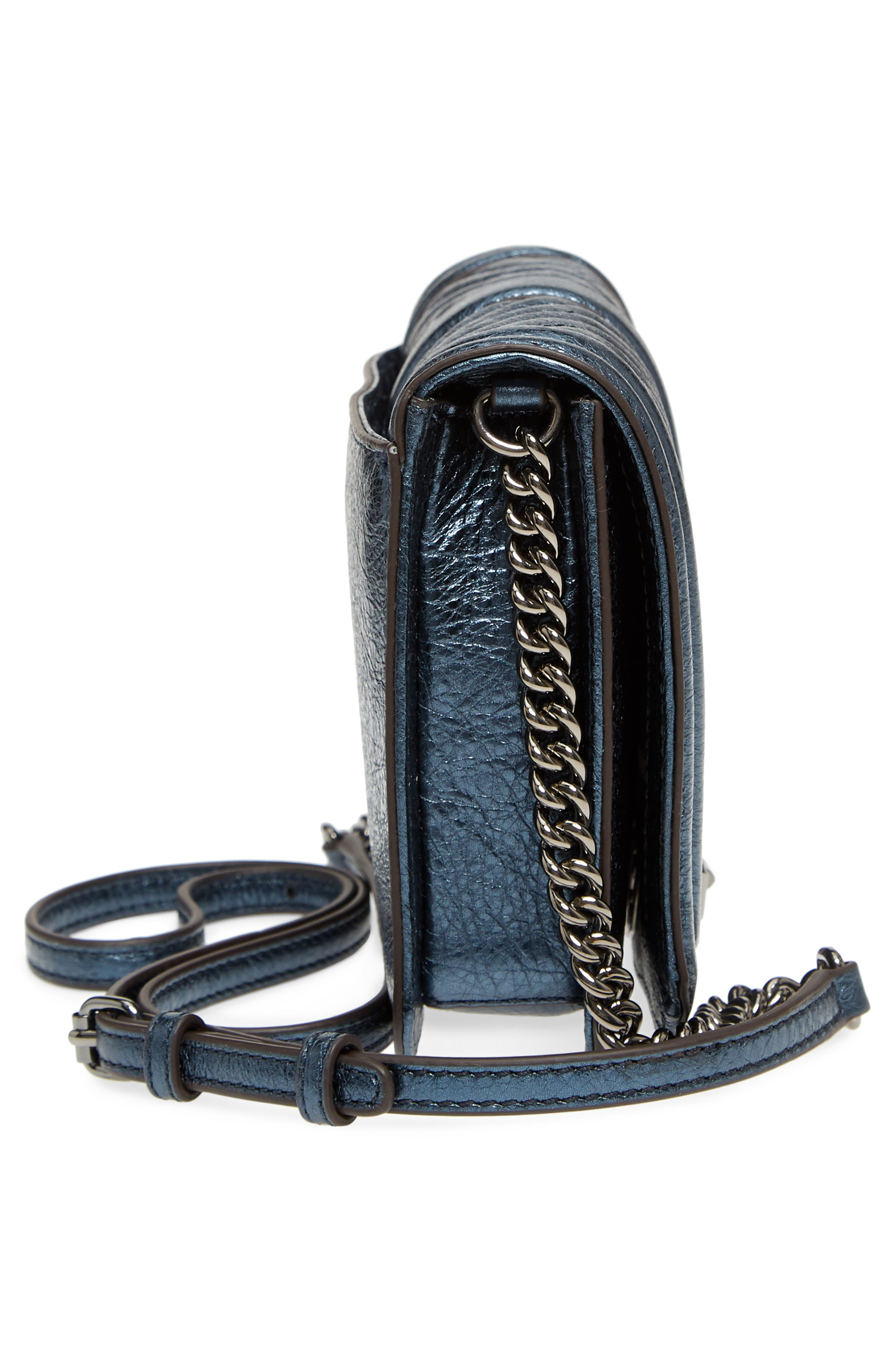 Small Love Metallic Leather Crossbody Bag,                             Alternate thumbnail 14, color,