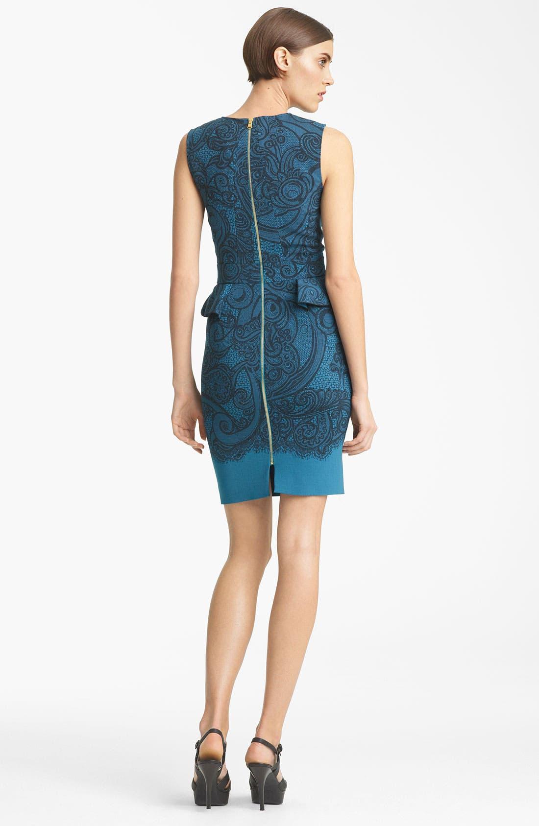 Peplum Jersey Dress,                             Alternate thumbnail 2, color,