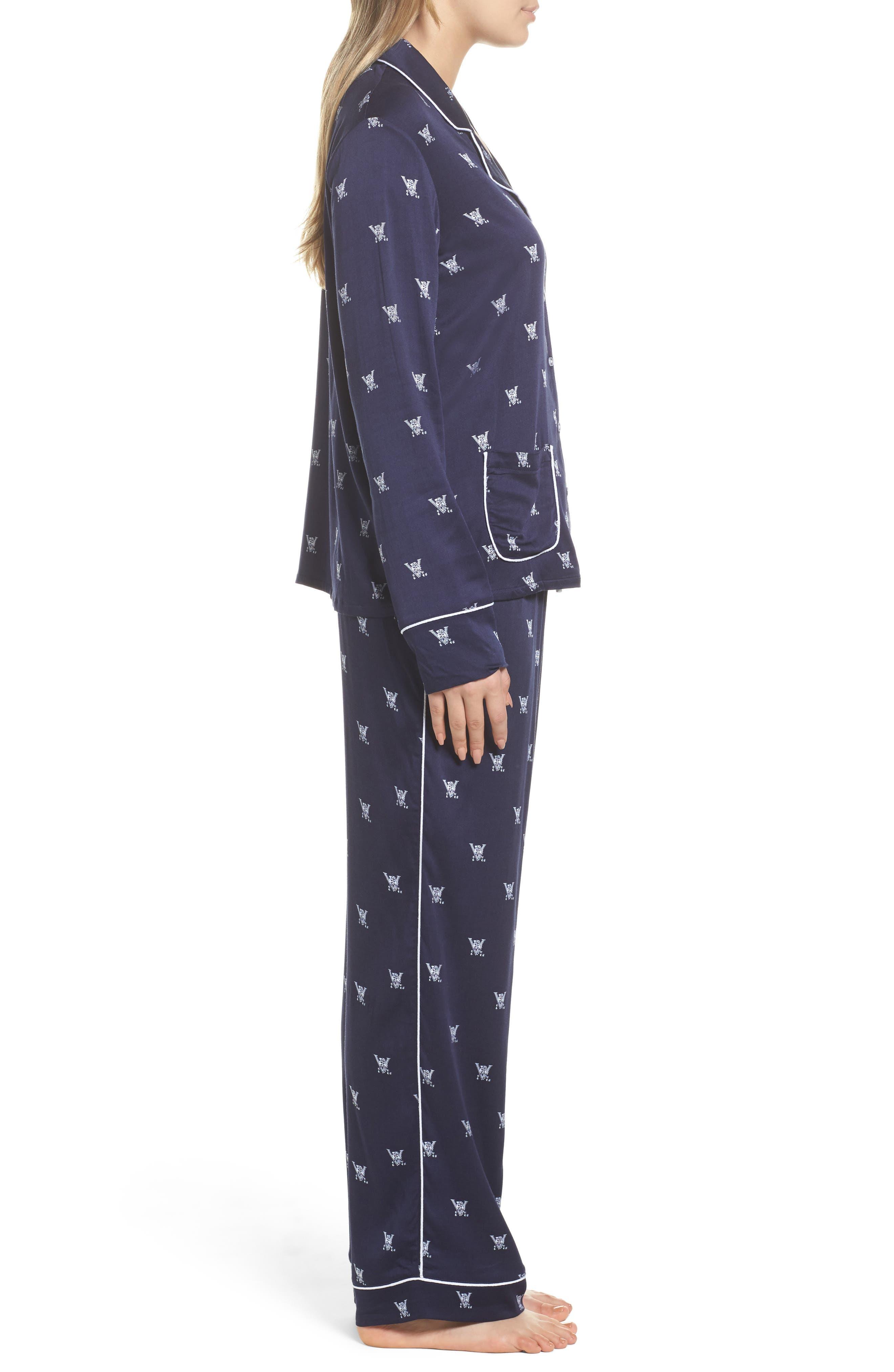 Notch Collar Pajamas,                             Alternate thumbnail 3, color,                             400