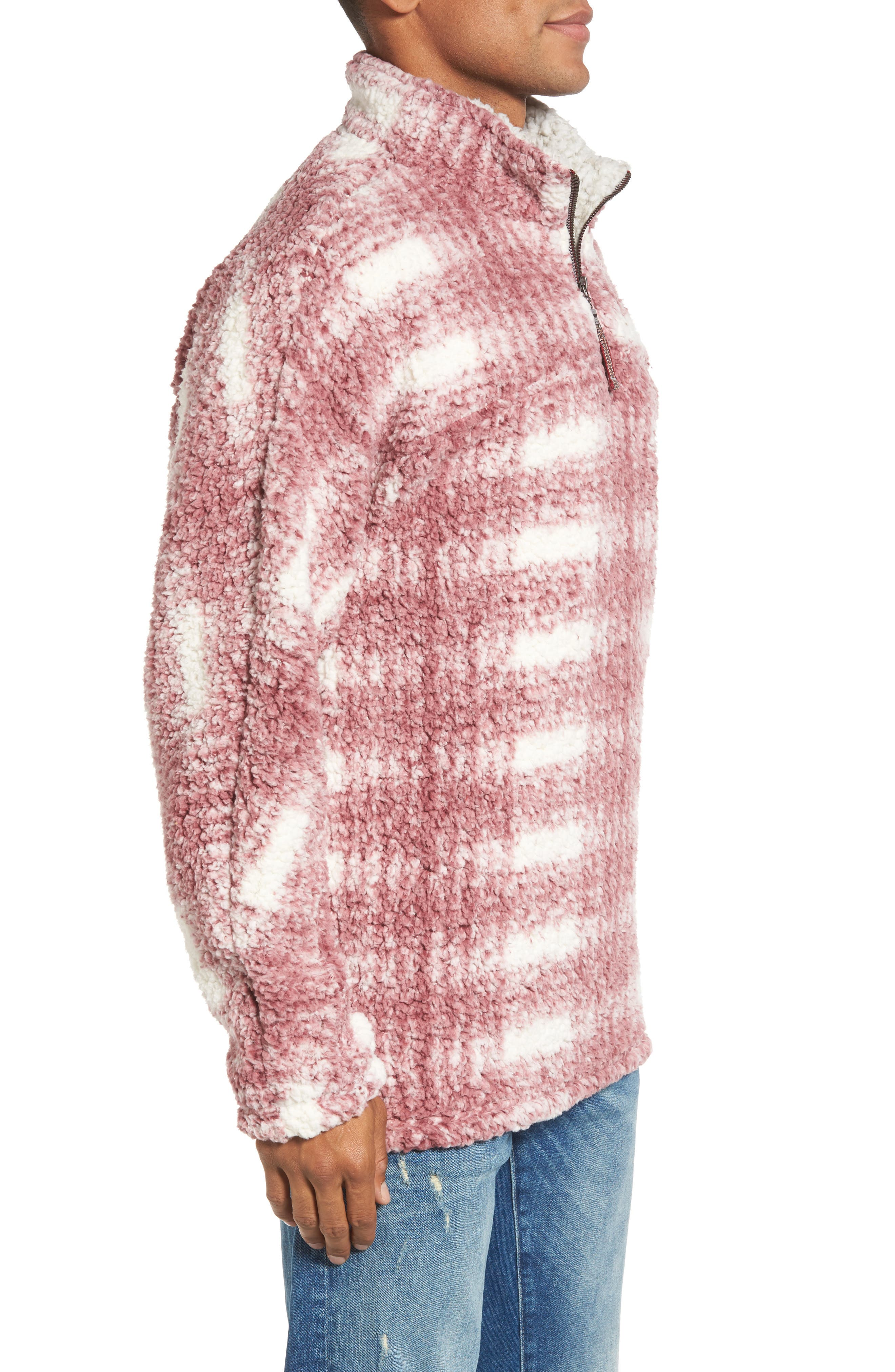 Big Plaid Frosty Tipped Faux Fur Pullover,                             Alternate thumbnail 6, color,