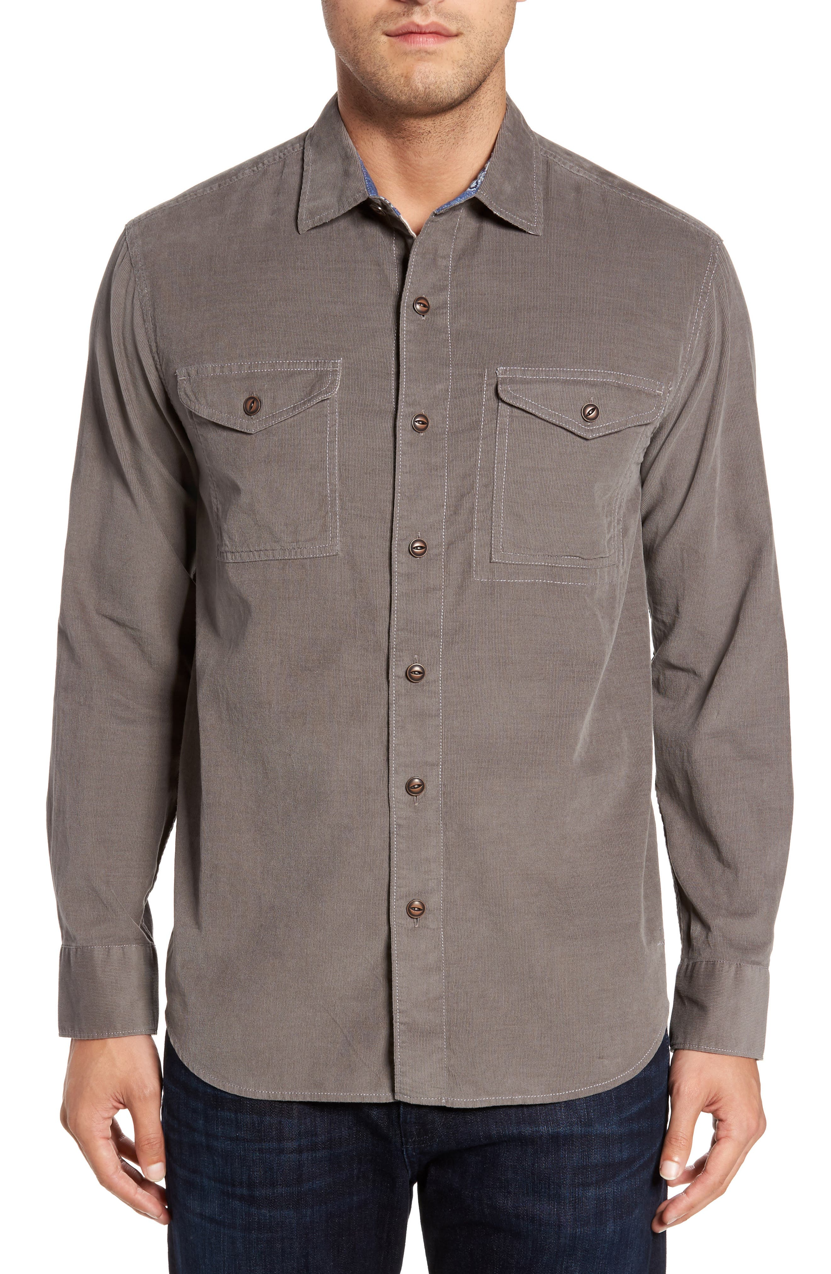 Harrison Cord Standard Fit Shirt,                         Main,                         color, 050