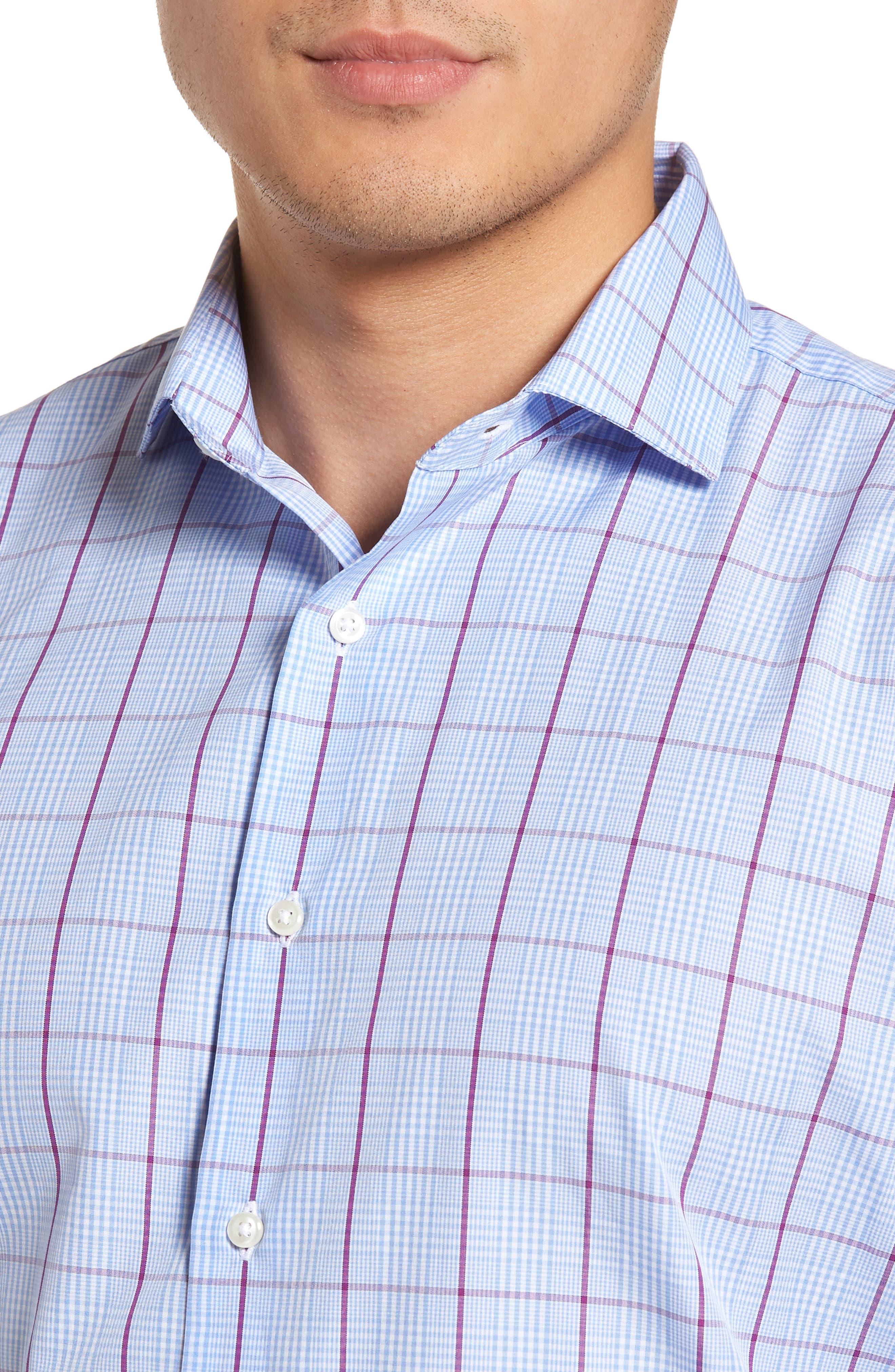 Trim Fit Plaid Dress Shirt,                             Alternate thumbnail 2, color,                             530