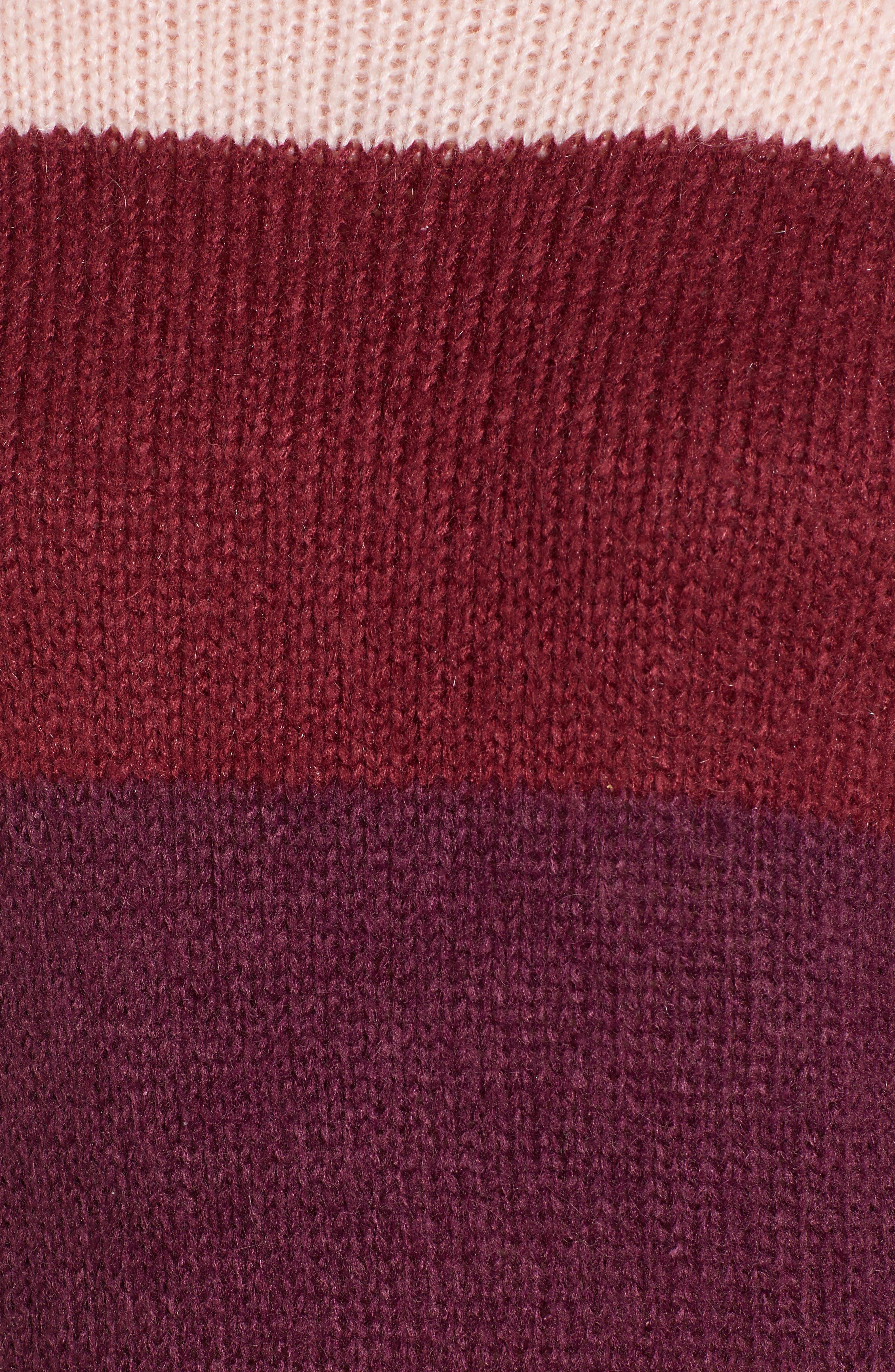 Kendall Stripe Sweater,                             Alternate thumbnail 5, color,                             CAMEL MULTI