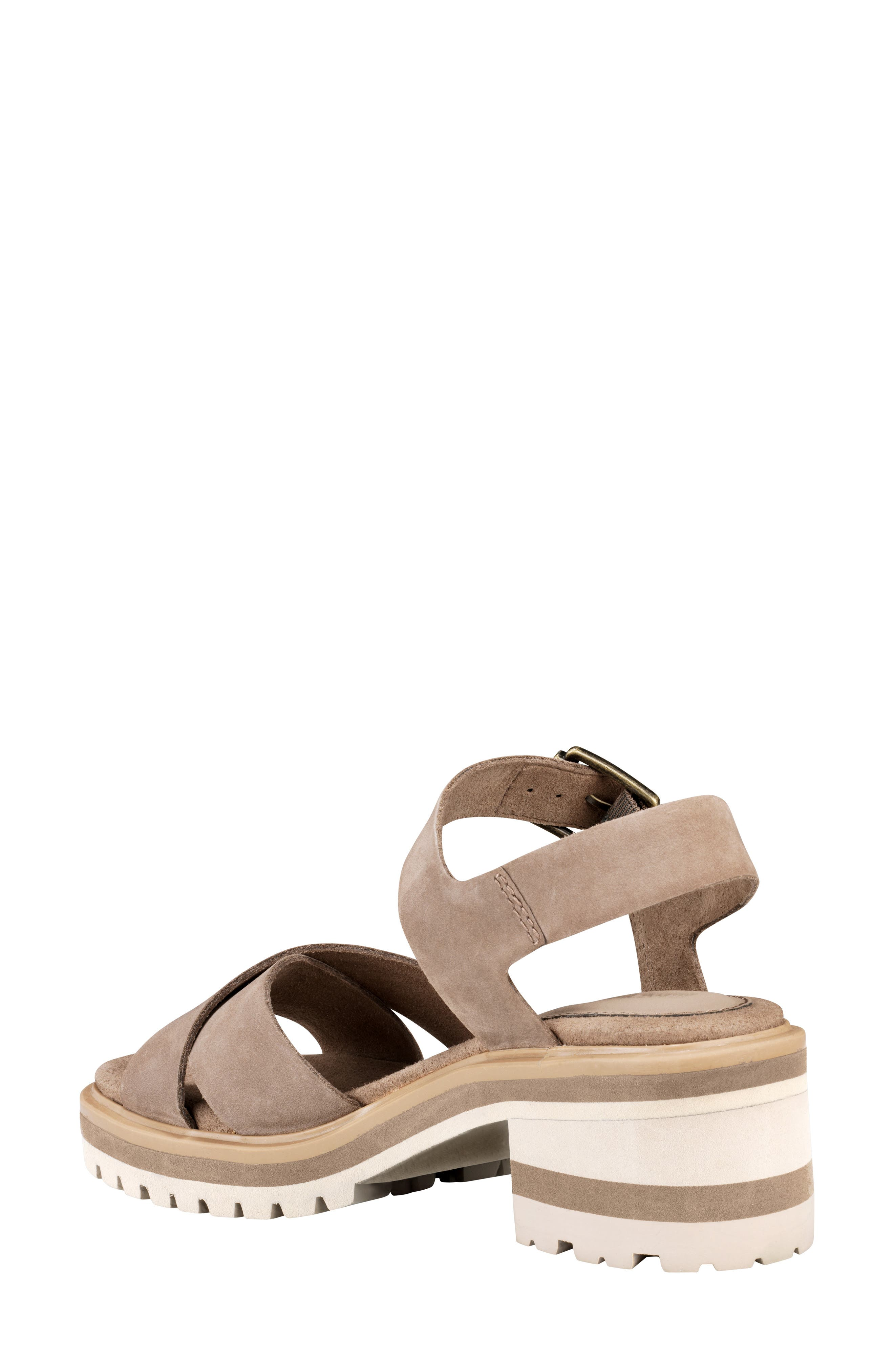 TIMBERLAND,                             Violet March Crisscross Sandal,                             Alternate thumbnail 2, color,                             TAUPE NUBUCK LEATHER