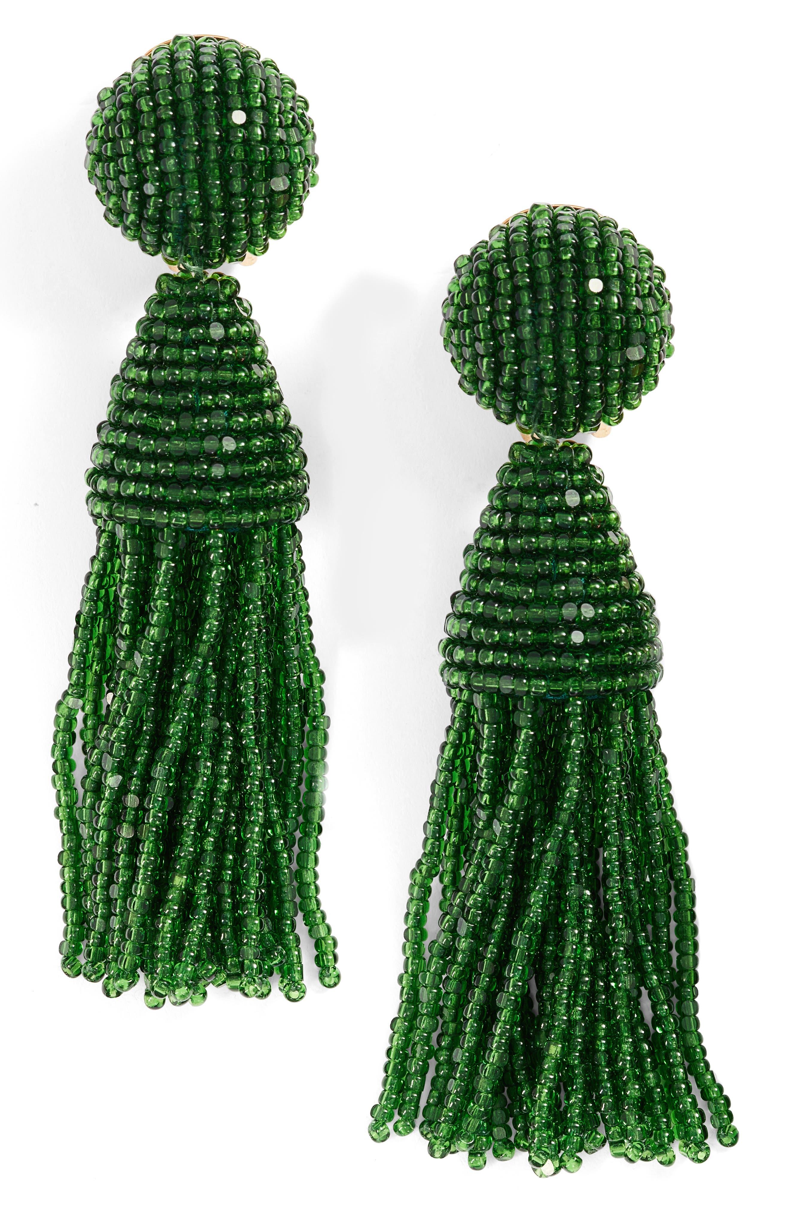 'Classic Short' Tassel Drop Clip Earrings,                             Main thumbnail 12, color,