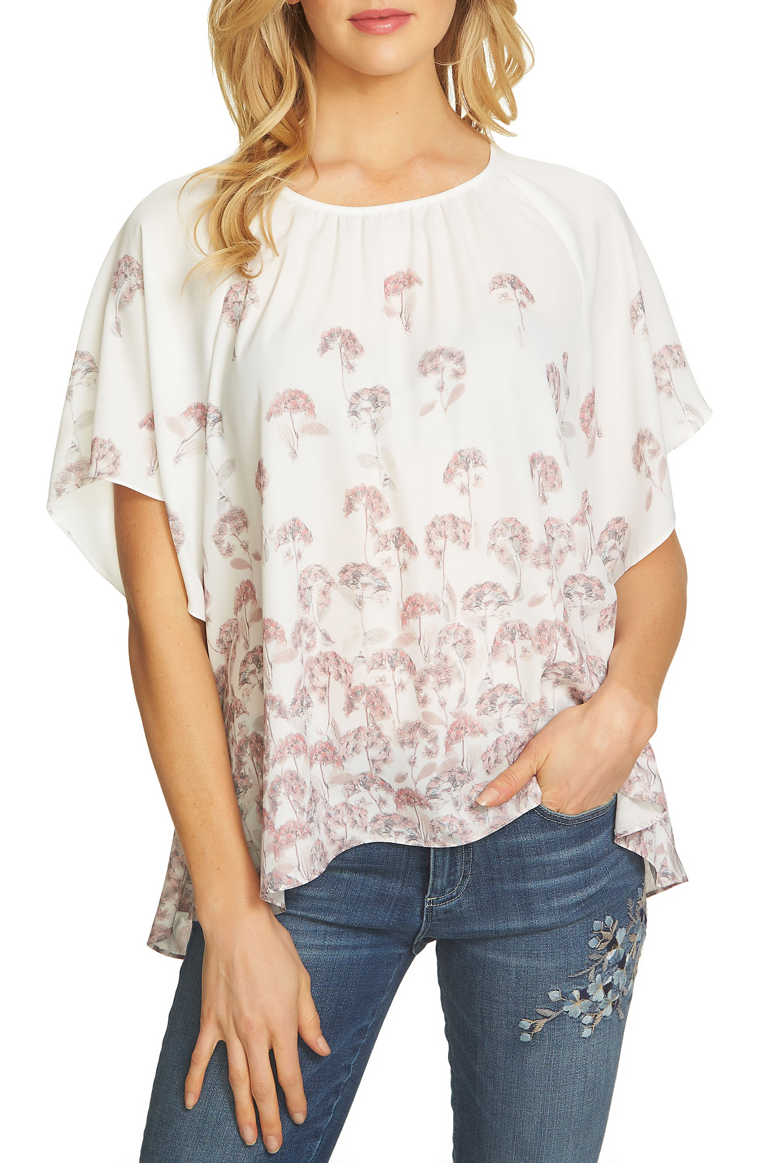 Wisteria Print Blouse,                         Main,                         color, 108
