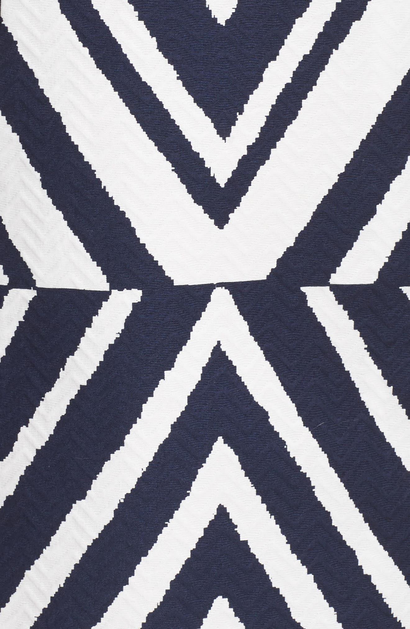 Texture Sheath Dress,                             Alternate thumbnail 6, color,