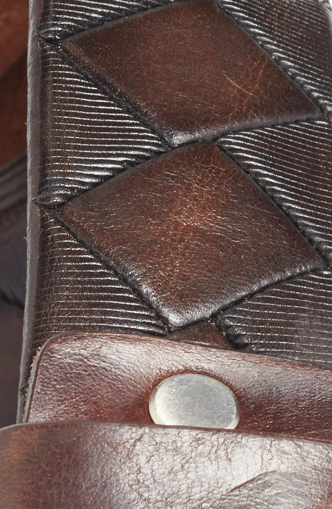 'Dino' Leather Belt,                             Alternate thumbnail 2, color,                             BROWN
