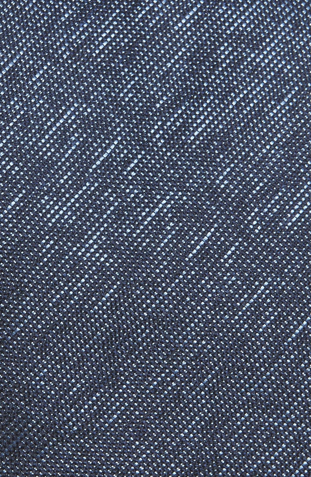 Solid Silk Tie,                             Alternate thumbnail 2, color,                             BLUE MARINE
