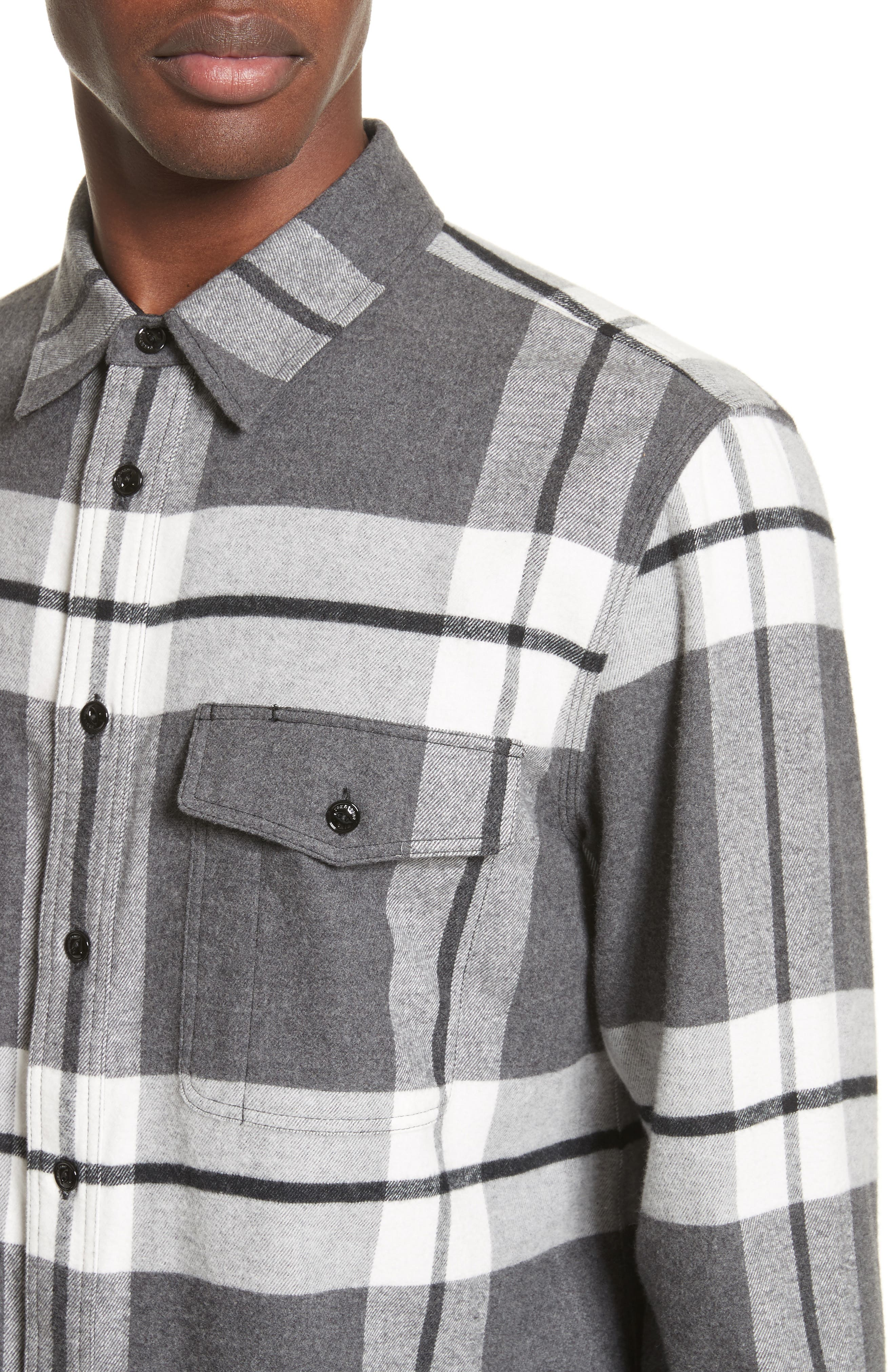 rag & bbone Jack Plaid Shirt Jacket,                             Alternate thumbnail 5, color,                             068