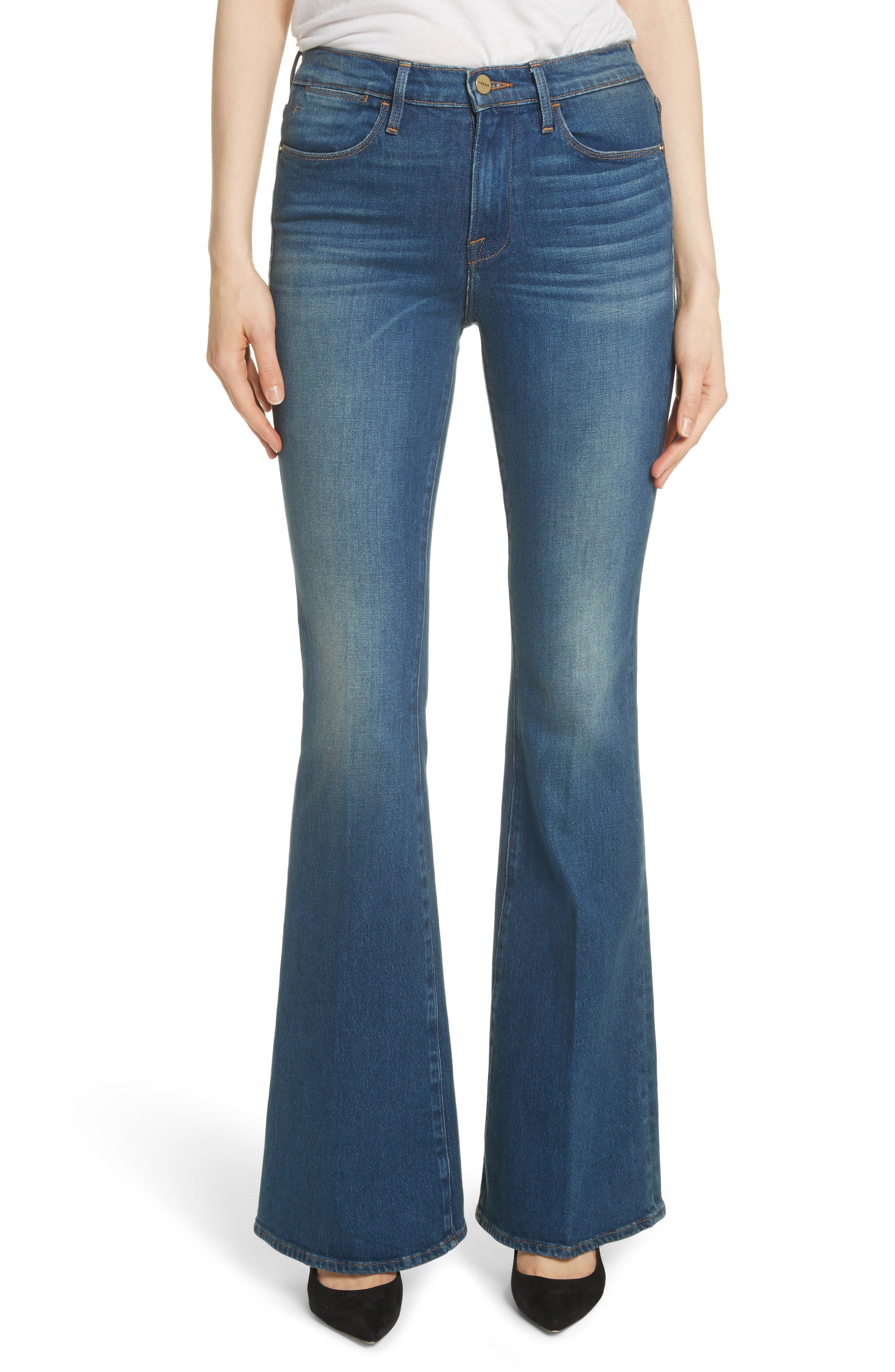 Le High Flare Jeans,                             Main thumbnail 1, color,                             401