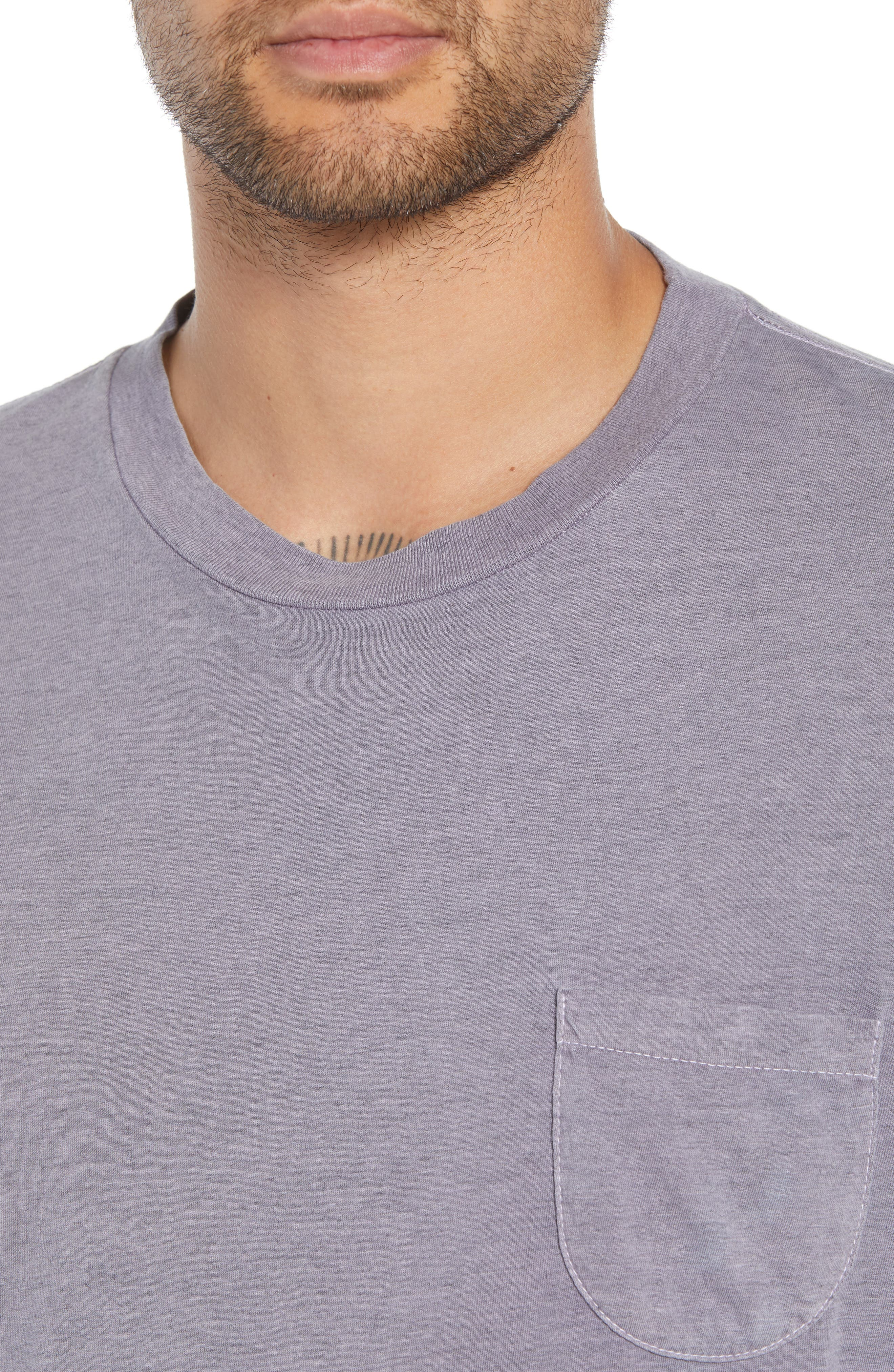 Kojak Pocket T-Shirt,                             Alternate thumbnail 4, color,                             PURPLE ASH