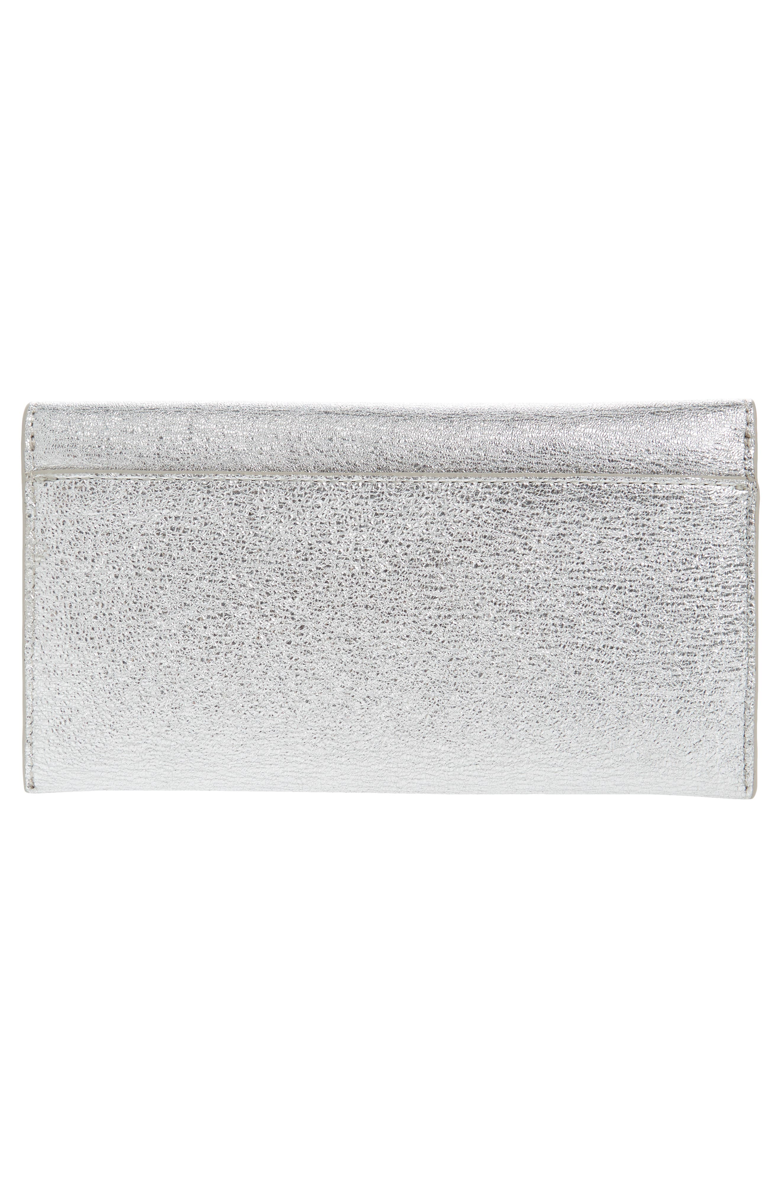 Everything Crystal Embellished Leather Wallet,                             Alternate thumbnail 3, color,                             049