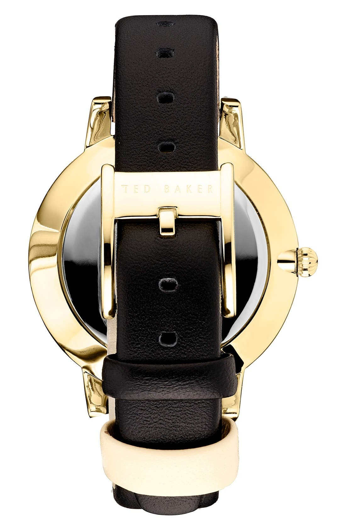 Leather Strap Watch, 40mm,                             Alternate thumbnail 5, color,