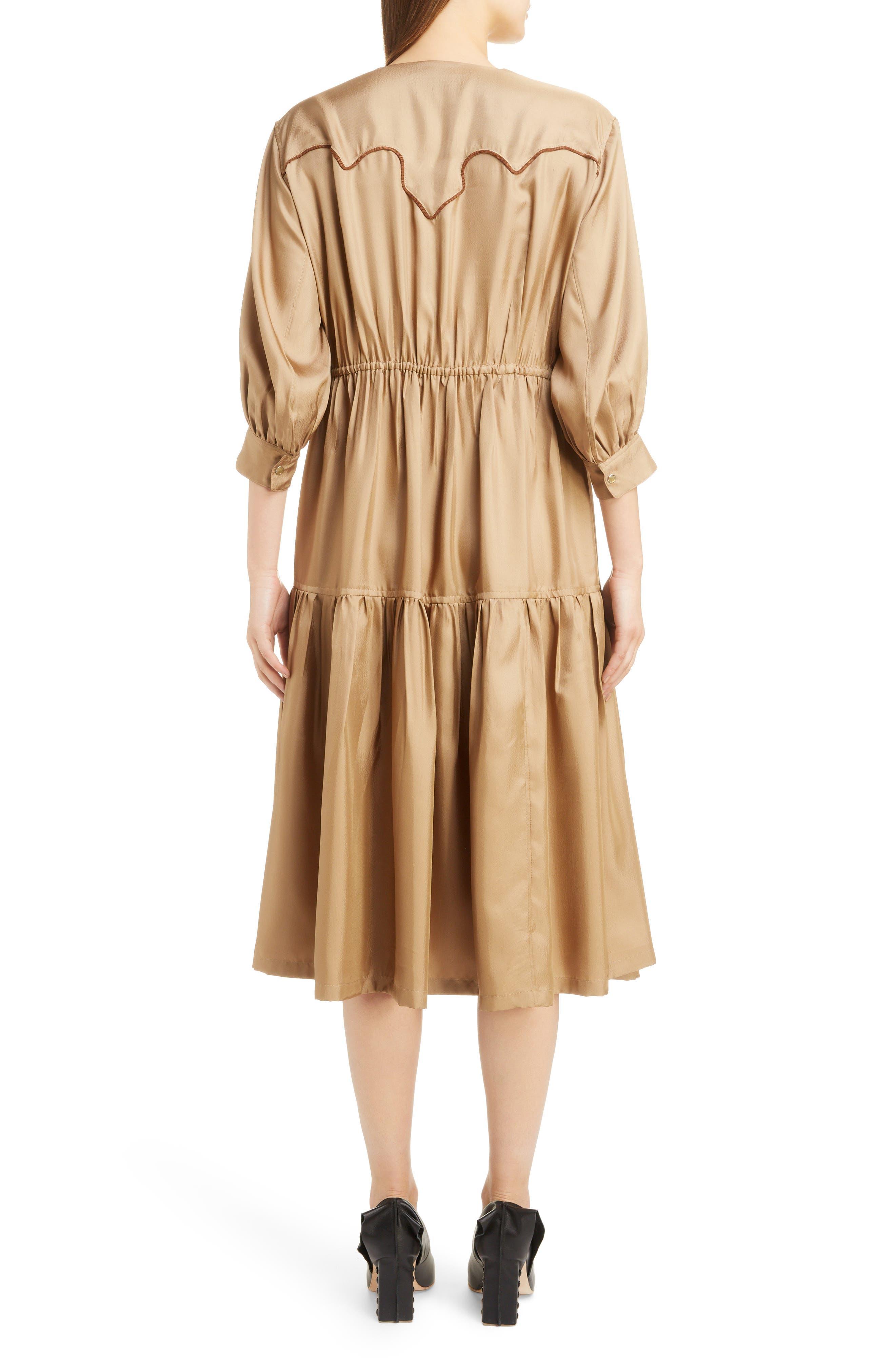 Twill Dress,                             Alternate thumbnail 2, color,                             BEIGE