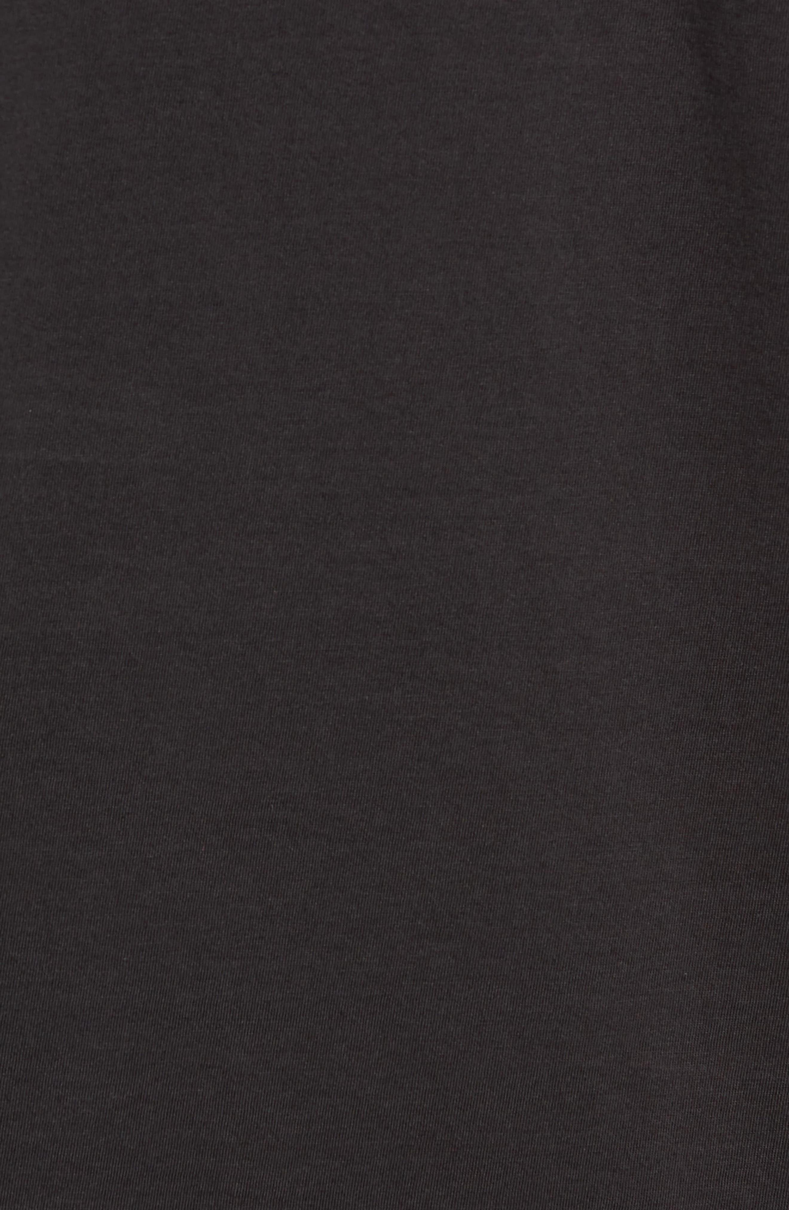 Superfine Slim Fit Long Sleeve Polo,                             Alternate thumbnail 5, color,                             CAVIAR BLACK
